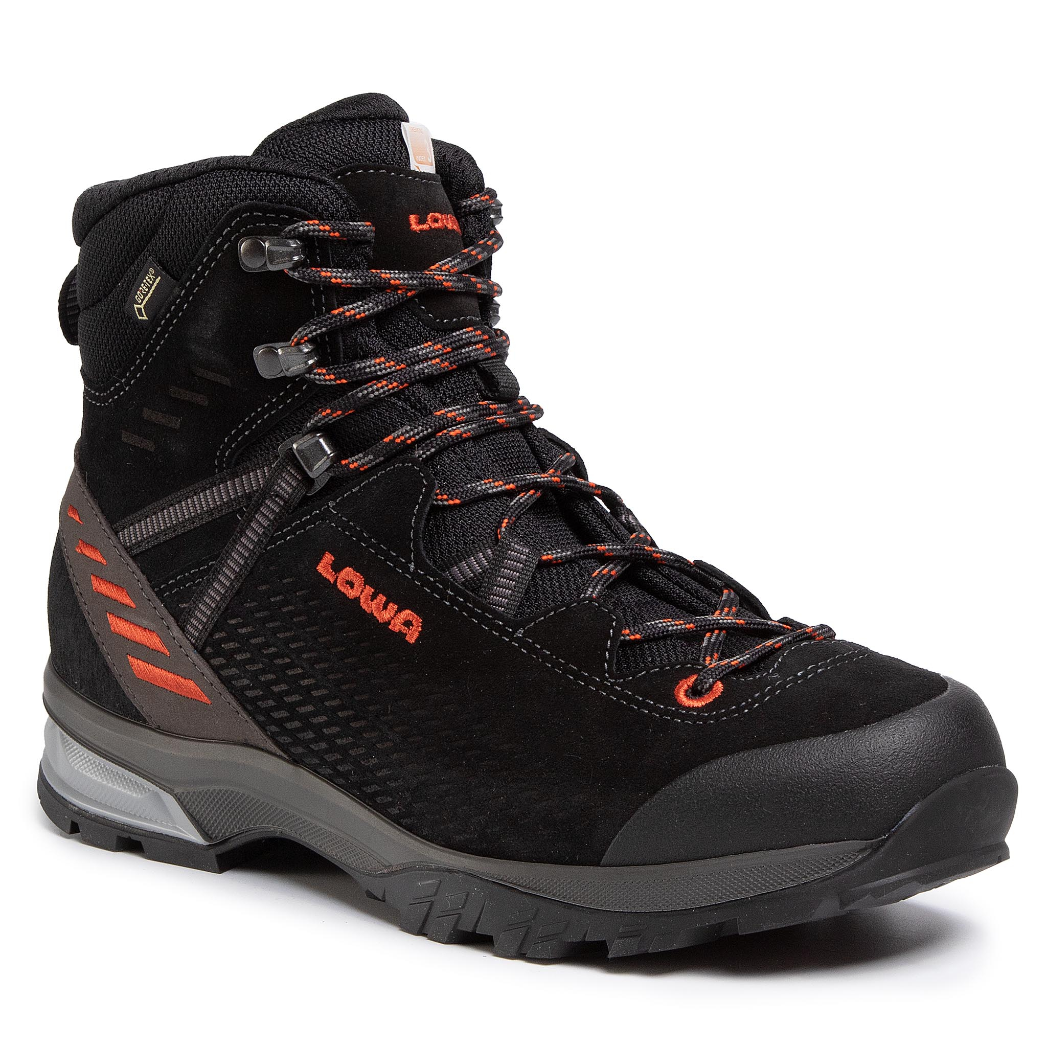 Trekkings Lowa - Ledro Gtx Mid Gorwe-Tex 210716 Black/Flame 9960 imagine epantofi.ro 2021