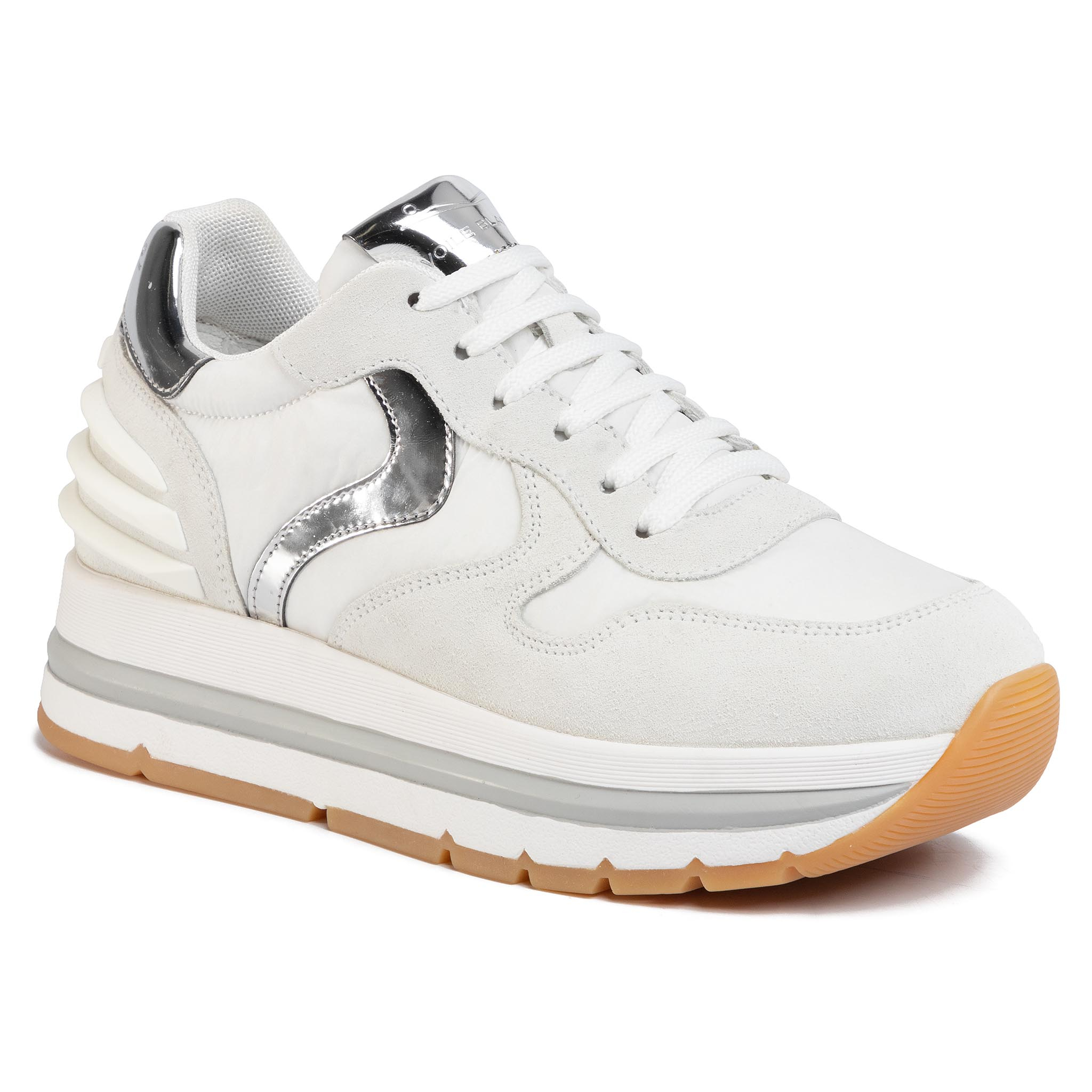 Sneakers VOILE BLANCHE - Maran Power 0012014751.06.1N02 Bianco/Argento