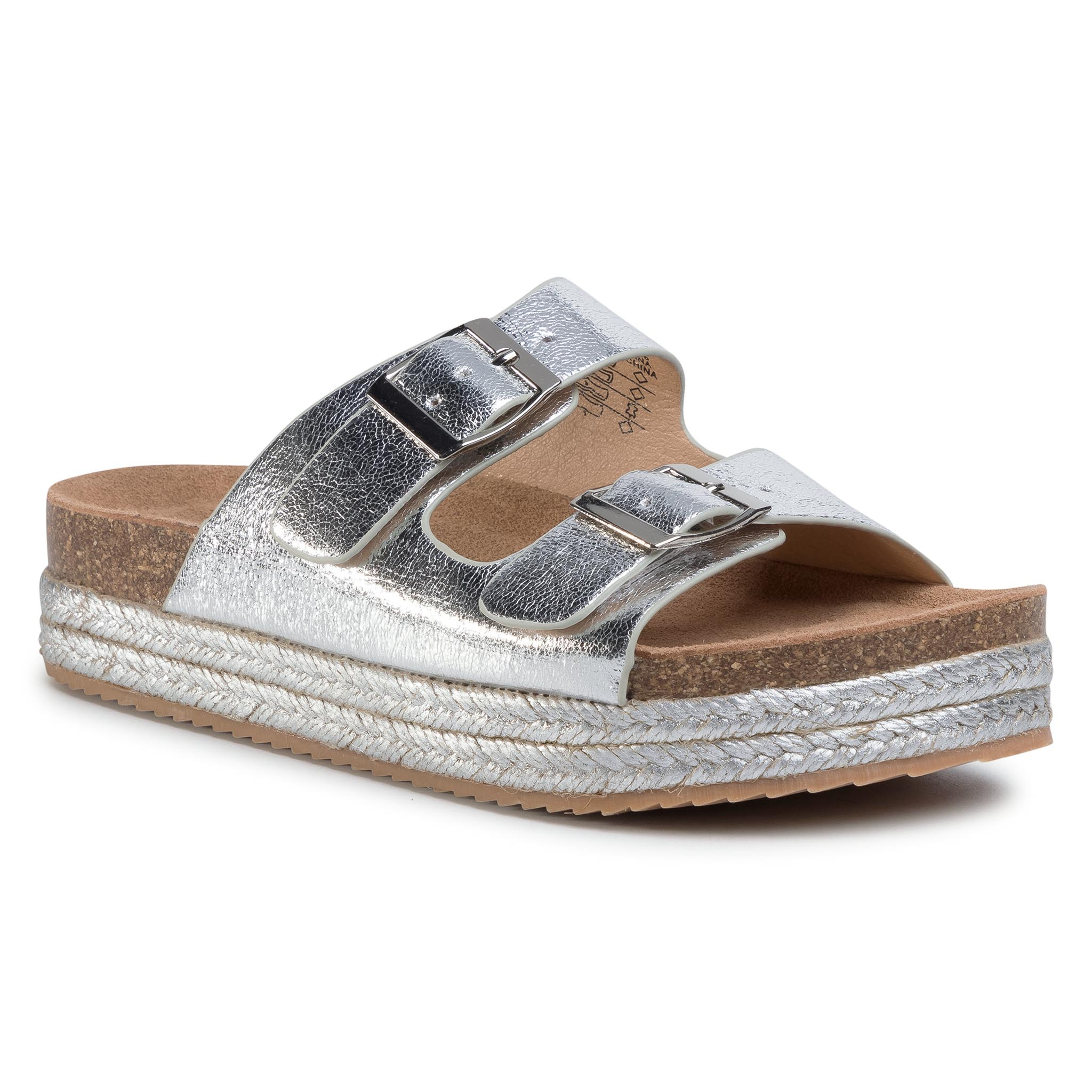 Espadrile Refresh - 69926 Silver imagine epantofi.ro 2021