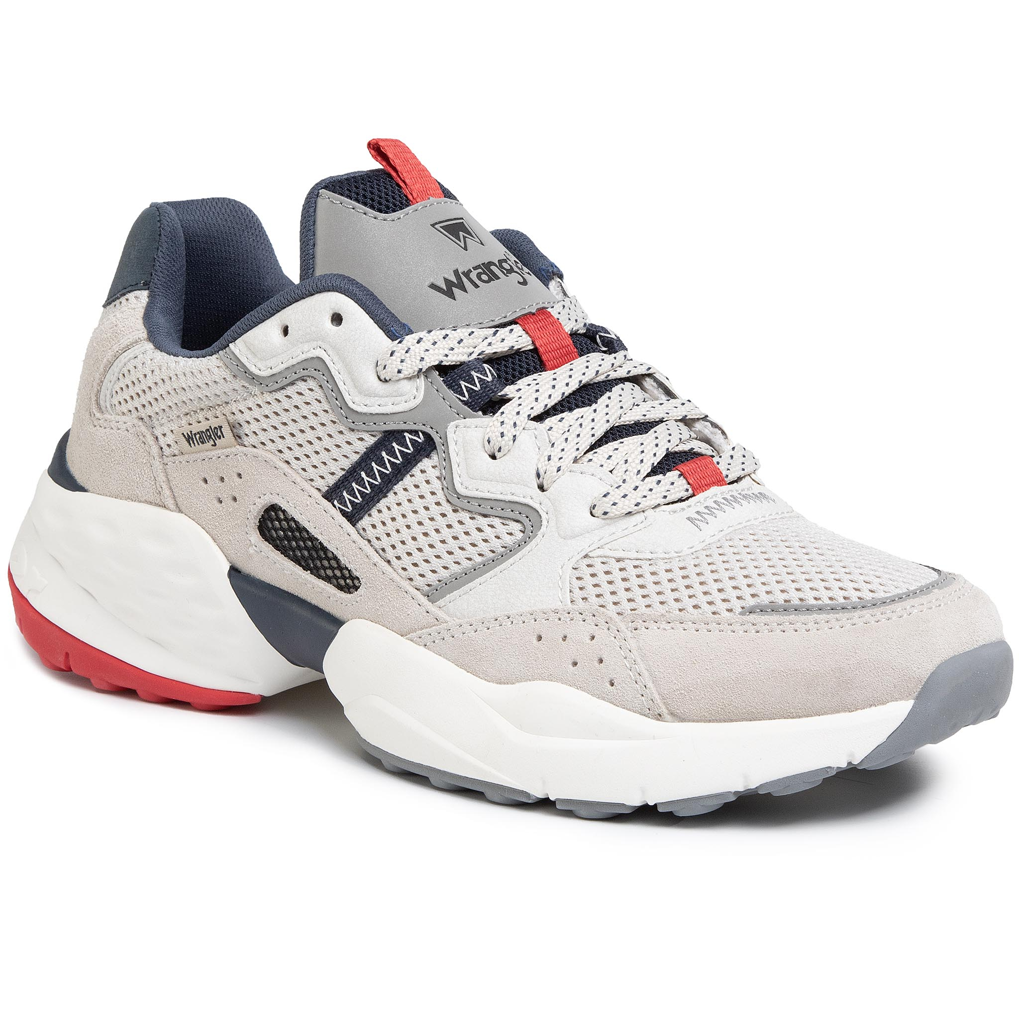 Sneakers Wrangler - Iconic 90 Sm Wm01101a White/Navy/Red 652 imagine