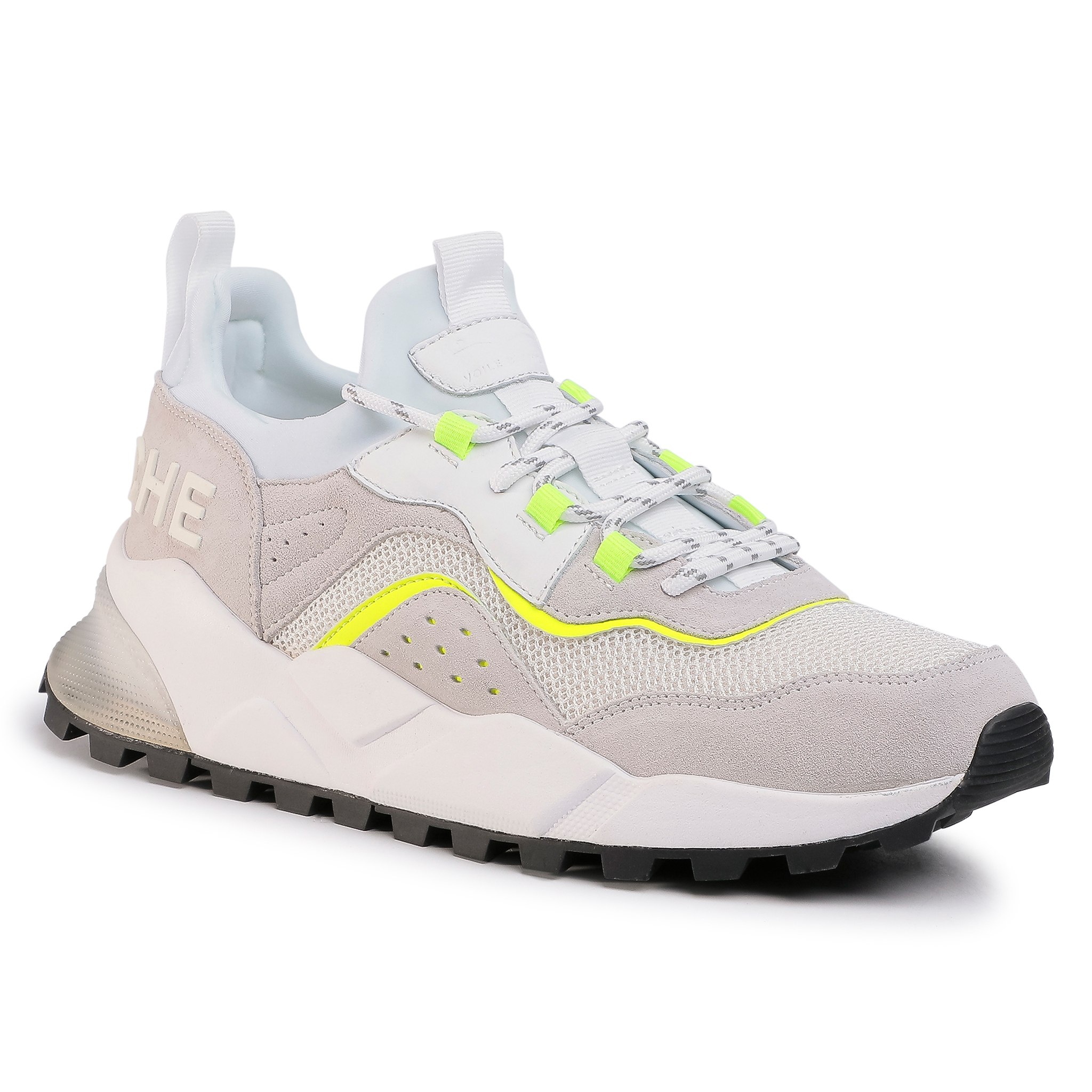 Sneakers VOILE BLANCHE - Clubo4 0012014830.01.1N40 Bianco/Giallo Flu