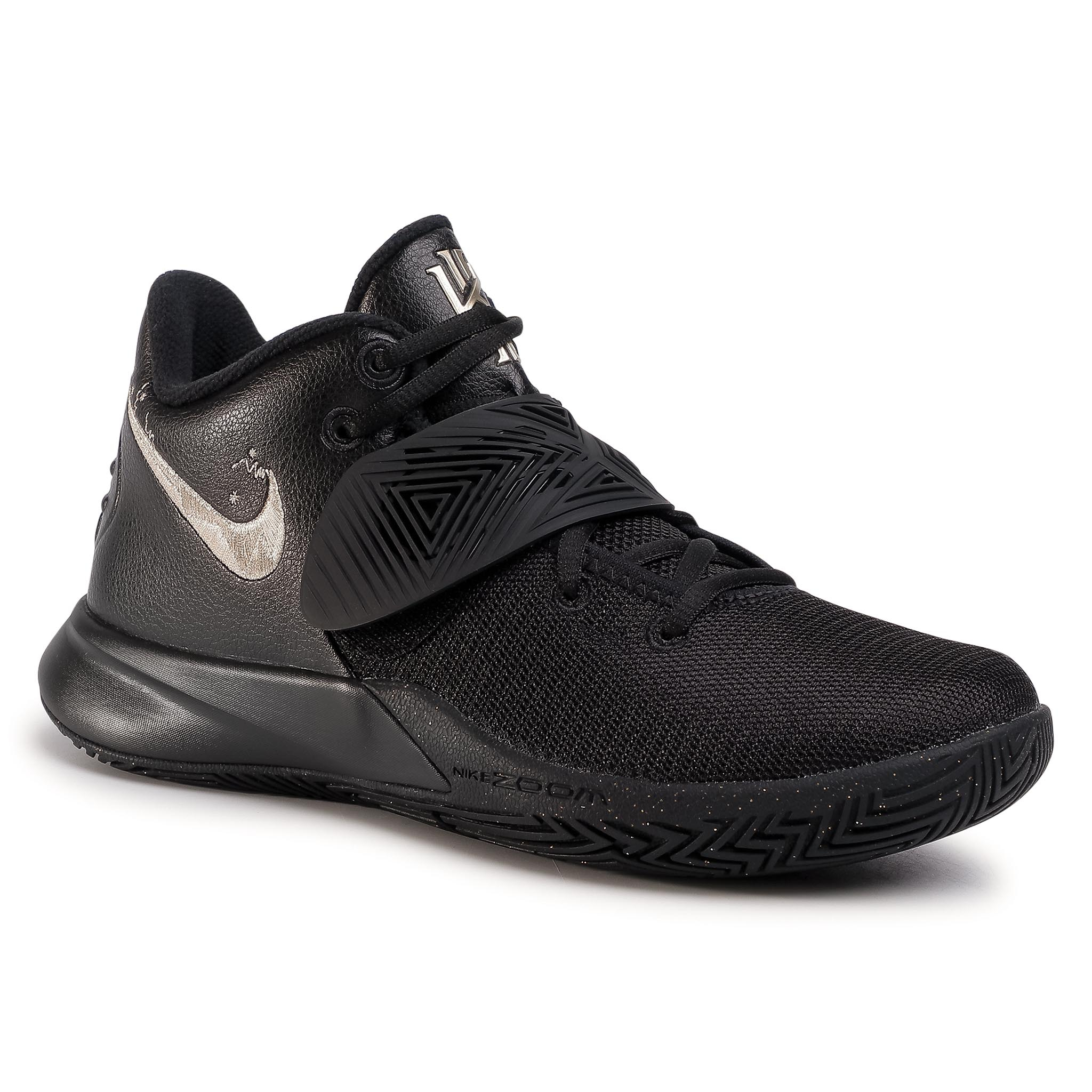 Pantofi Nike - Kyrie Flytrap Iii Bq3060-008 Black/Mtlc Gold Star imagine