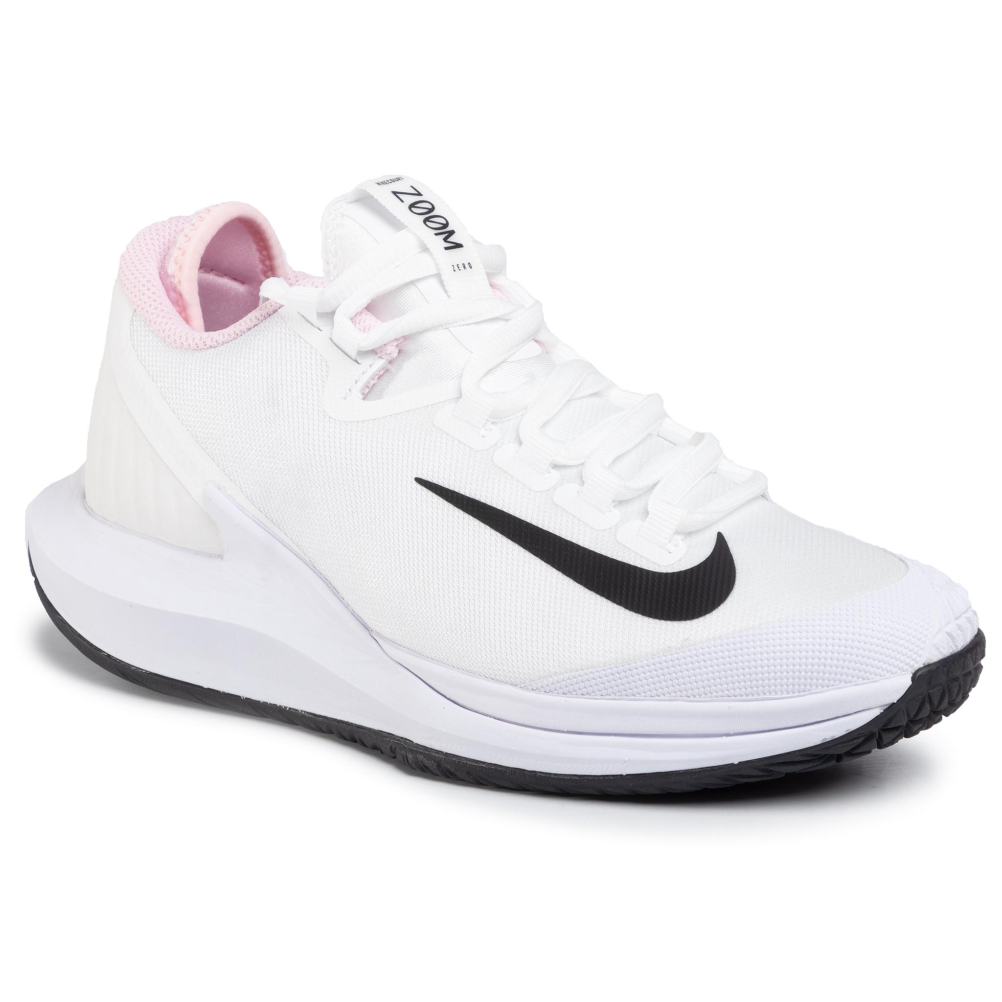 Pantofi Nike - Nikecourt Air Zoom Zero Hc Aa8022 105 White/Black/Pink Foam imagine epantofi.ro 2021