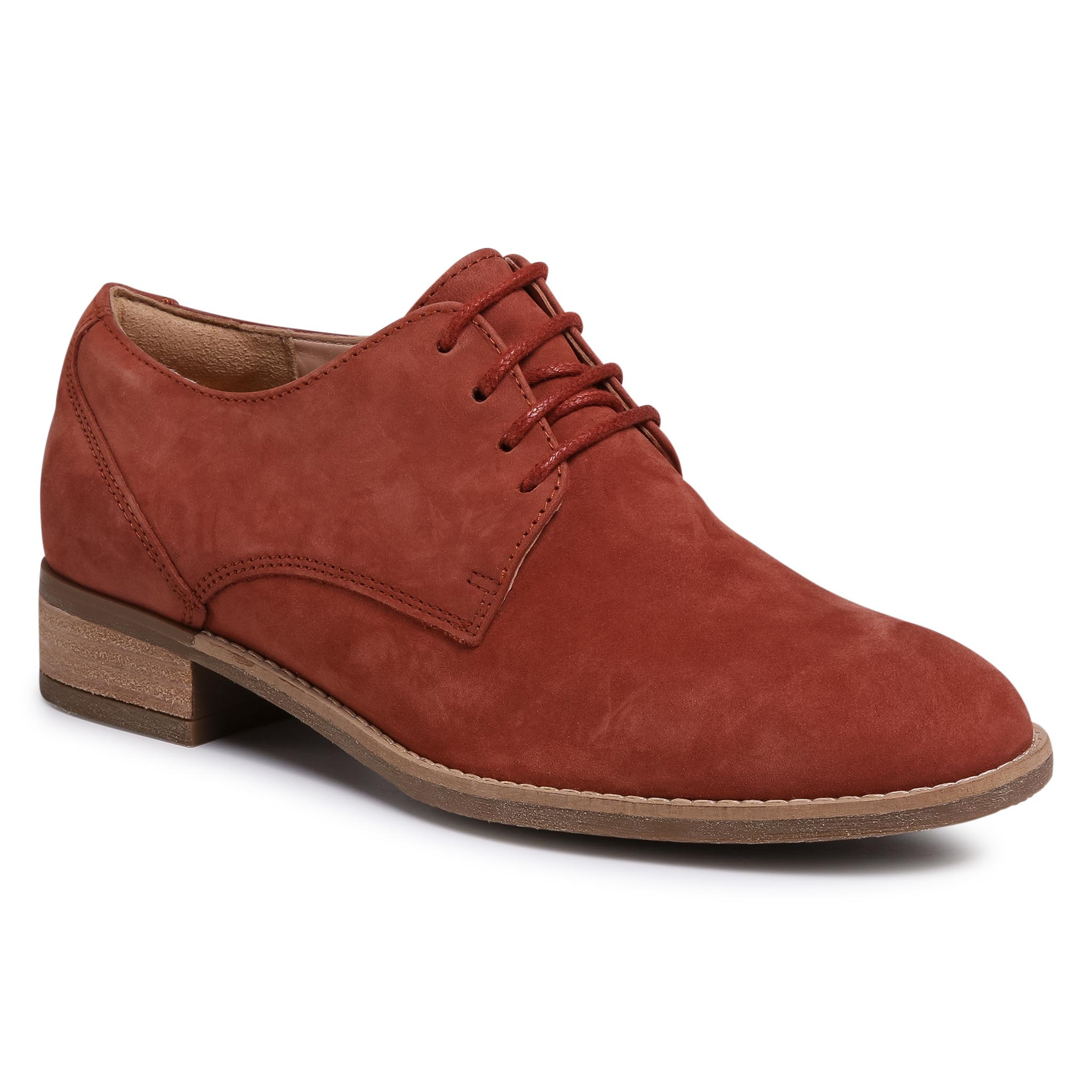 Oxford Clarks - Netley Bloom 261407834 Rust Nubuck imagine epantofi.ro 2021