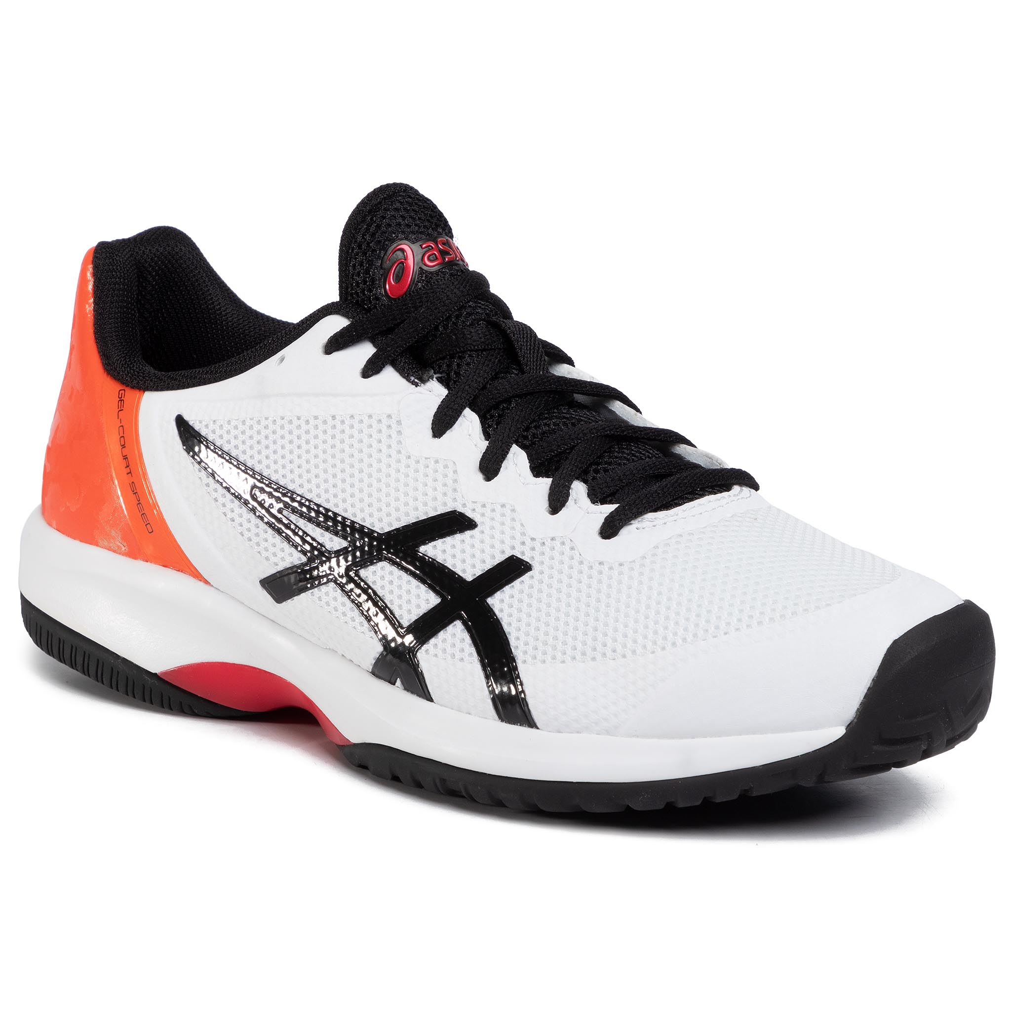 Pantofi Asics - Gel-Court Speed E800n White/Black 100 imagine epantofi.ro 2021