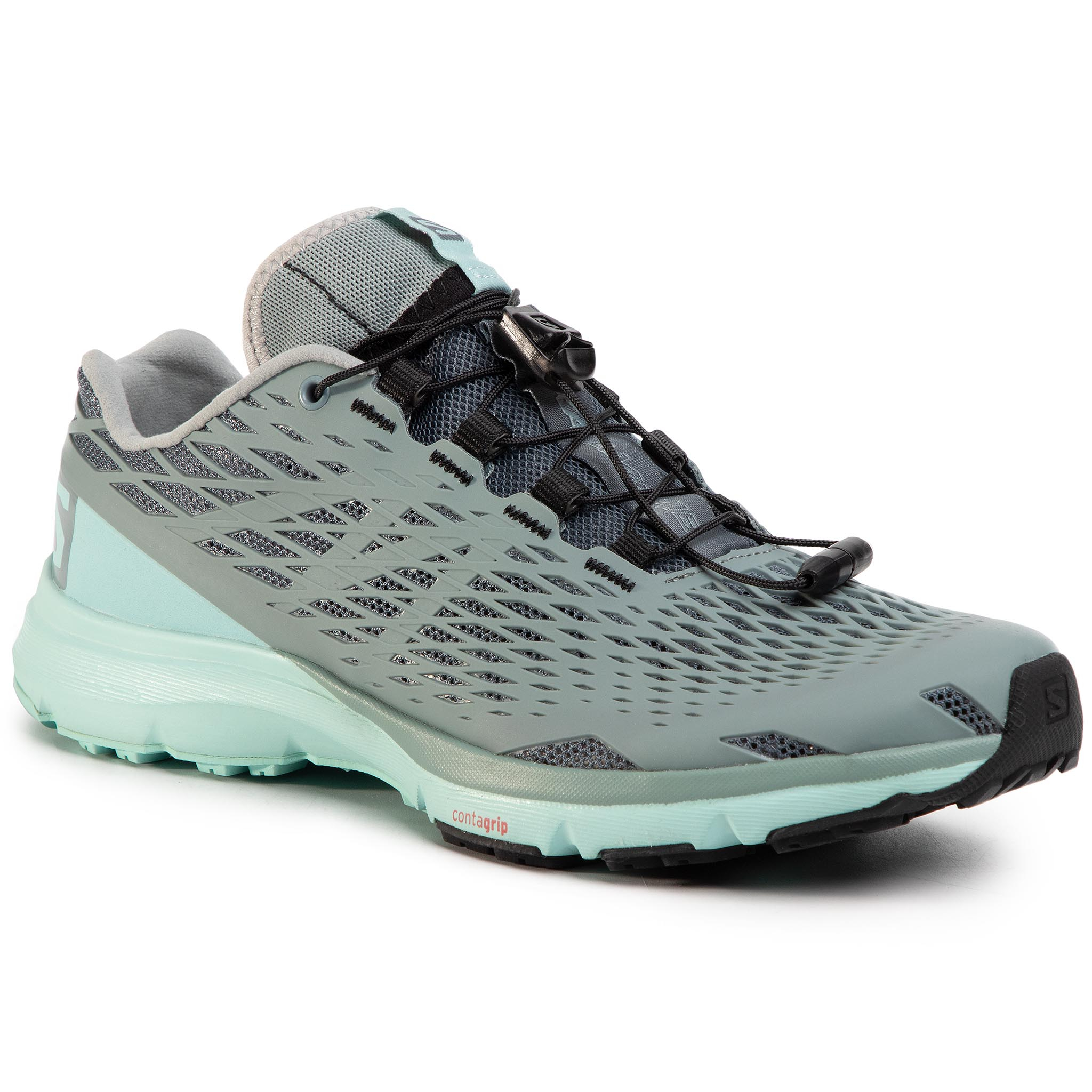 Trekkings Salomon - Xa Amphib W 401563 20 V0 Storm Weather/Lead/Canal Blue imagine epantofi.ro 2021