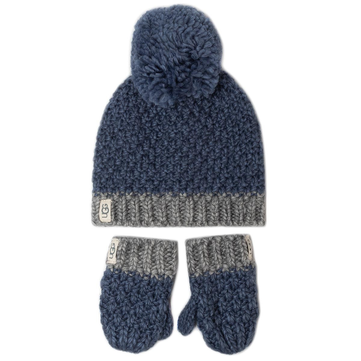 Set Mănuși Și Căciulă Ugg - K Infant Knit Hat And Mitt Set 18802 Ensign Blue imagine epantofi.ro 2021