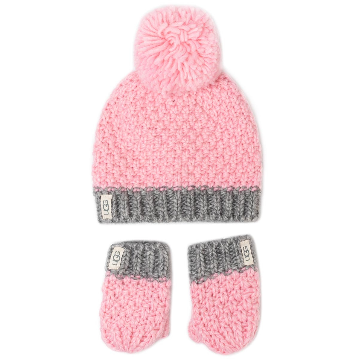 Set Mănuși Și Căciulă Ugg - K Infant Knit Hat And Mitt Set 18802 Seashell Pink imagine epantofi.ro 2021
