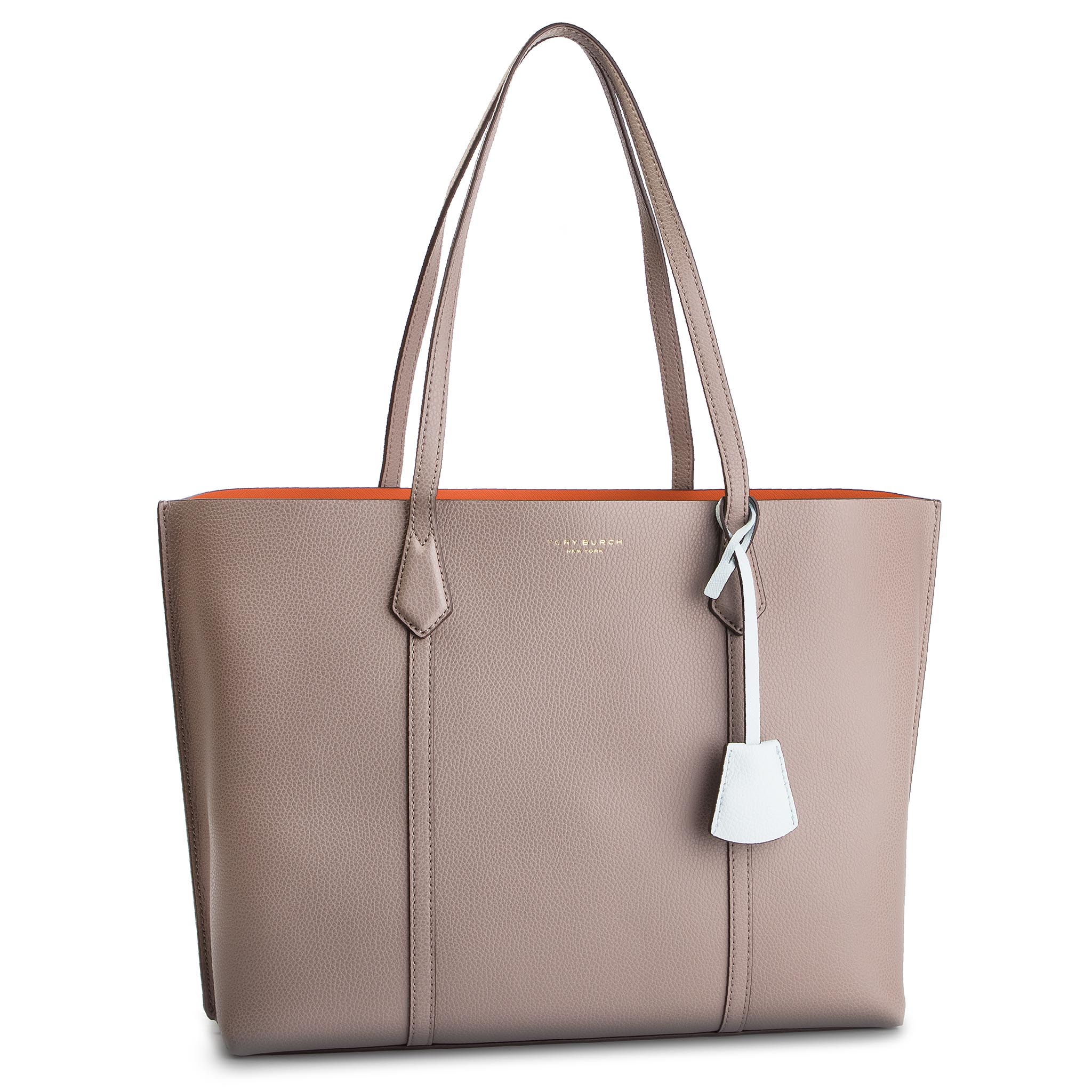 Geantă TORY BURCH - Perry Triple-Compartment Tote 53245 Gray Heron 082