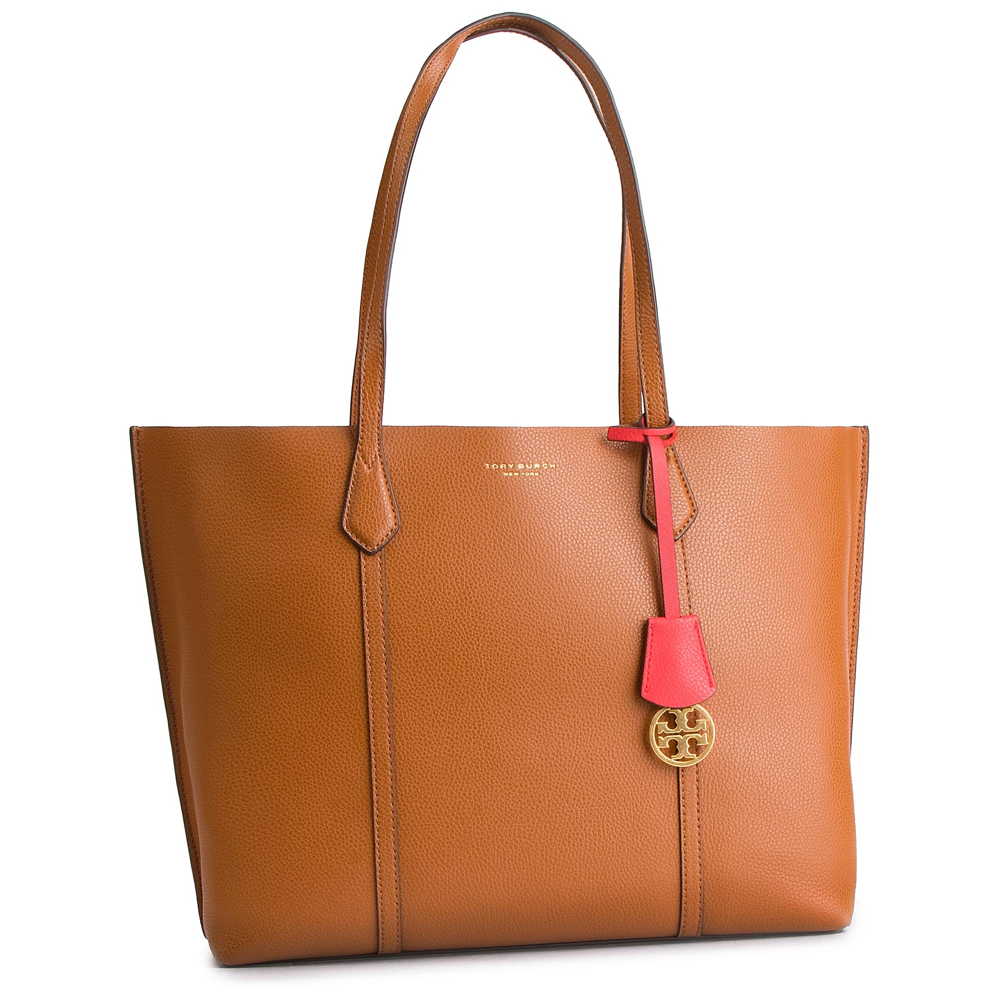 Geantă TORY BURCH - Perry Triple-Compartment Tote 53245 Light Umber 905