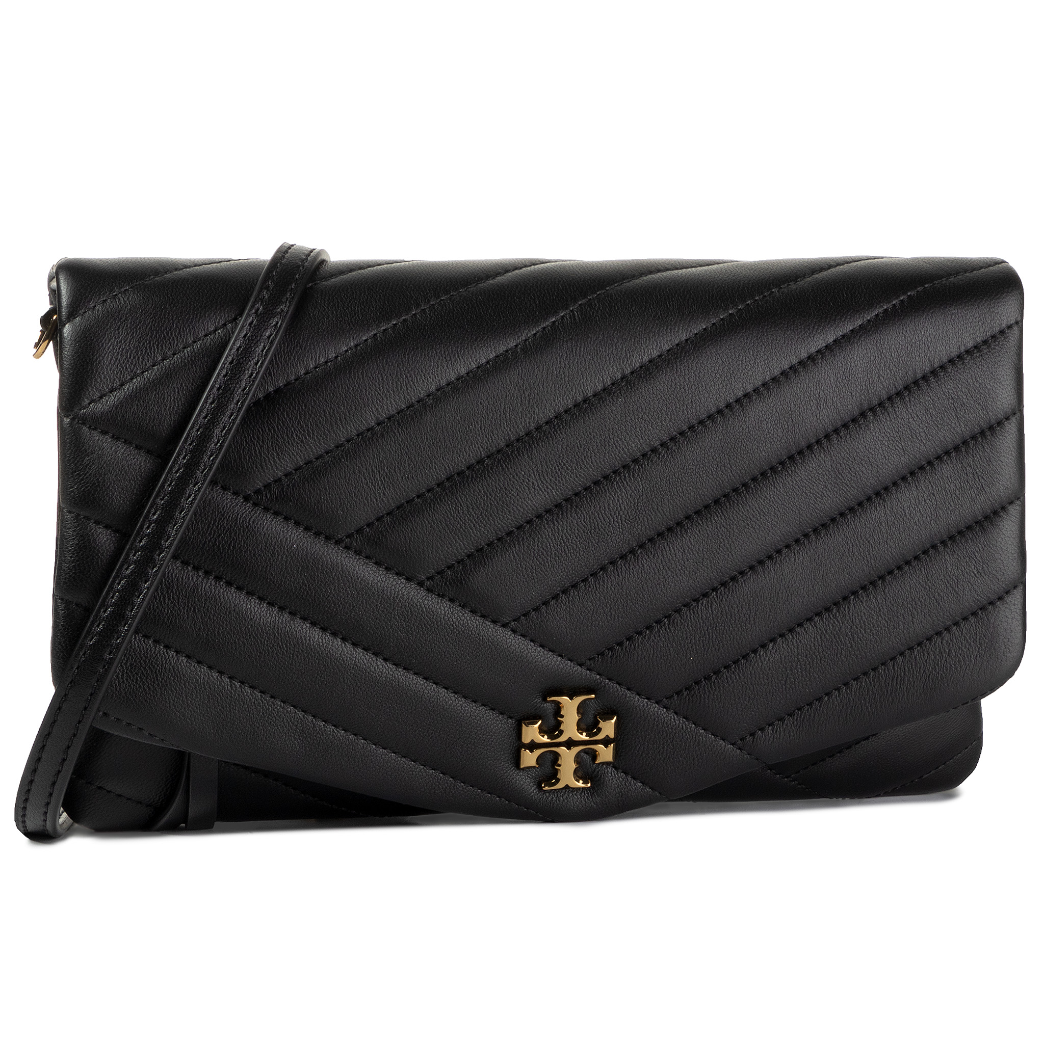 Geantă TORY BURCH - Kira Chevron Clutch 56824 Black