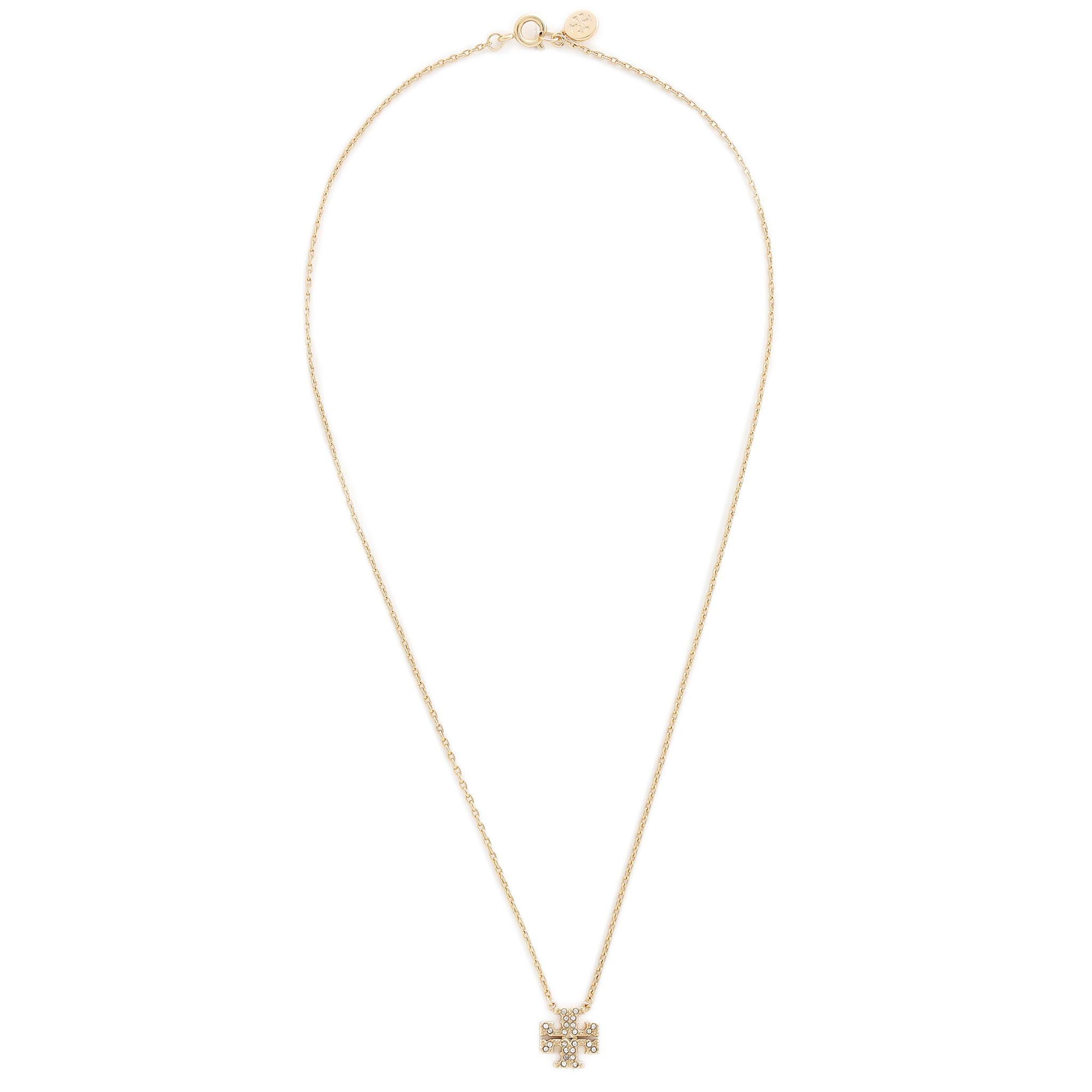 Colier TORY BURCH - Kira Pave Delicate Necklace 61725 Tory Gold/Crystal 745