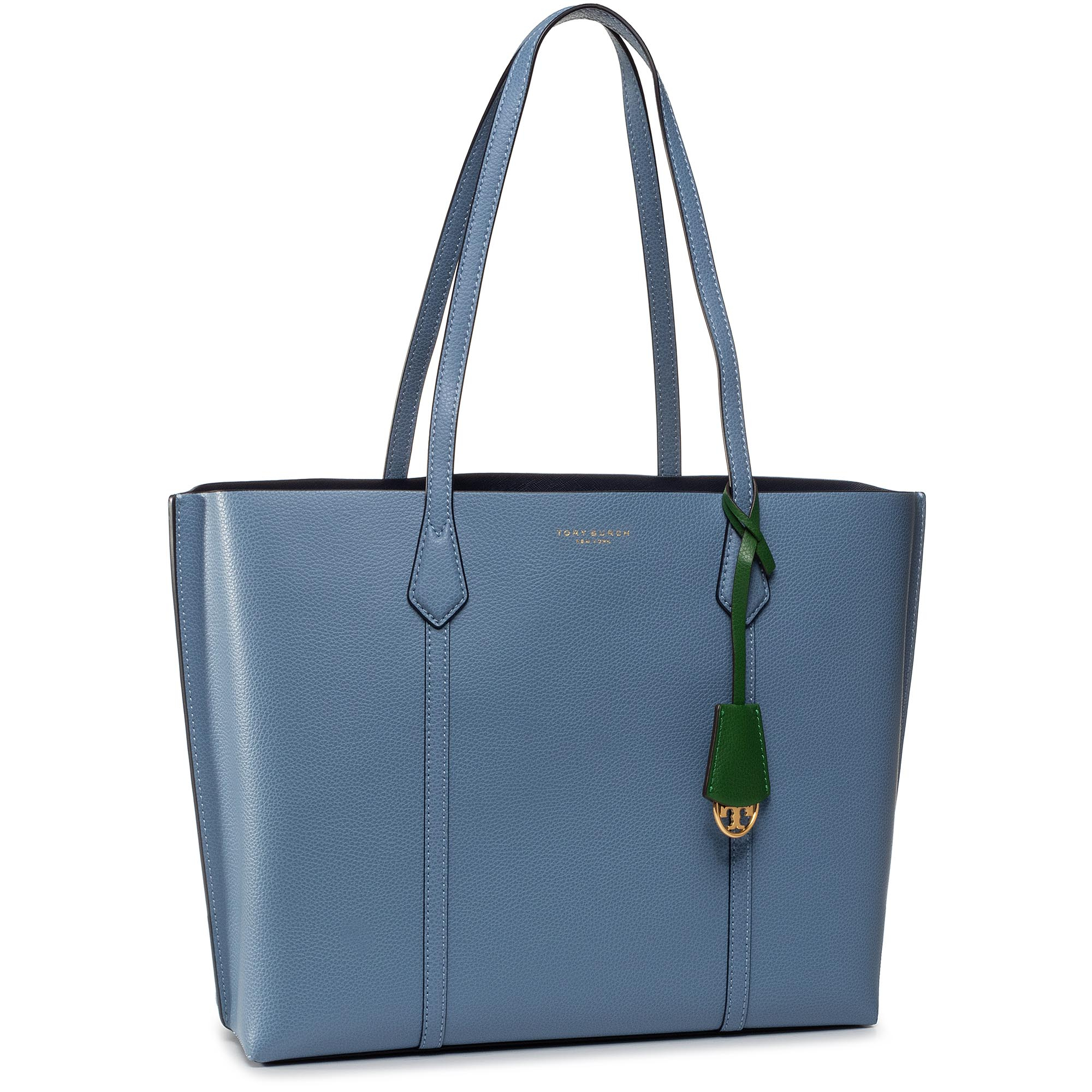 Geantă TORY BURCH - Perry Triple-Compartment Tote 53245 Bluewood 457