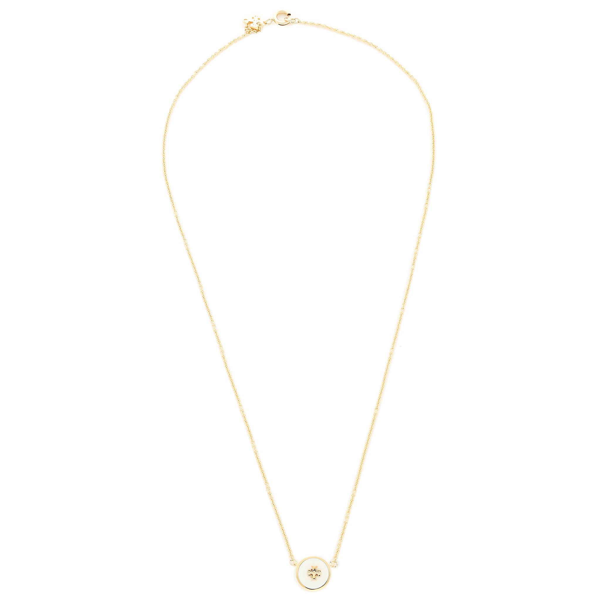 Colier TORY BURCH - Kira Enamel Pendant Necklace 64936 Tory Gold/New Ivory 110