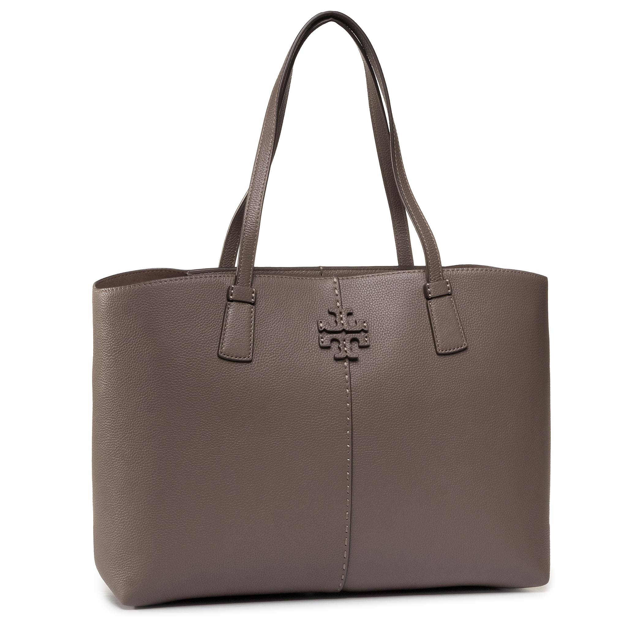 Geantă TORY BURCH - Mcgraw Tote 64454 Silver Maple 963