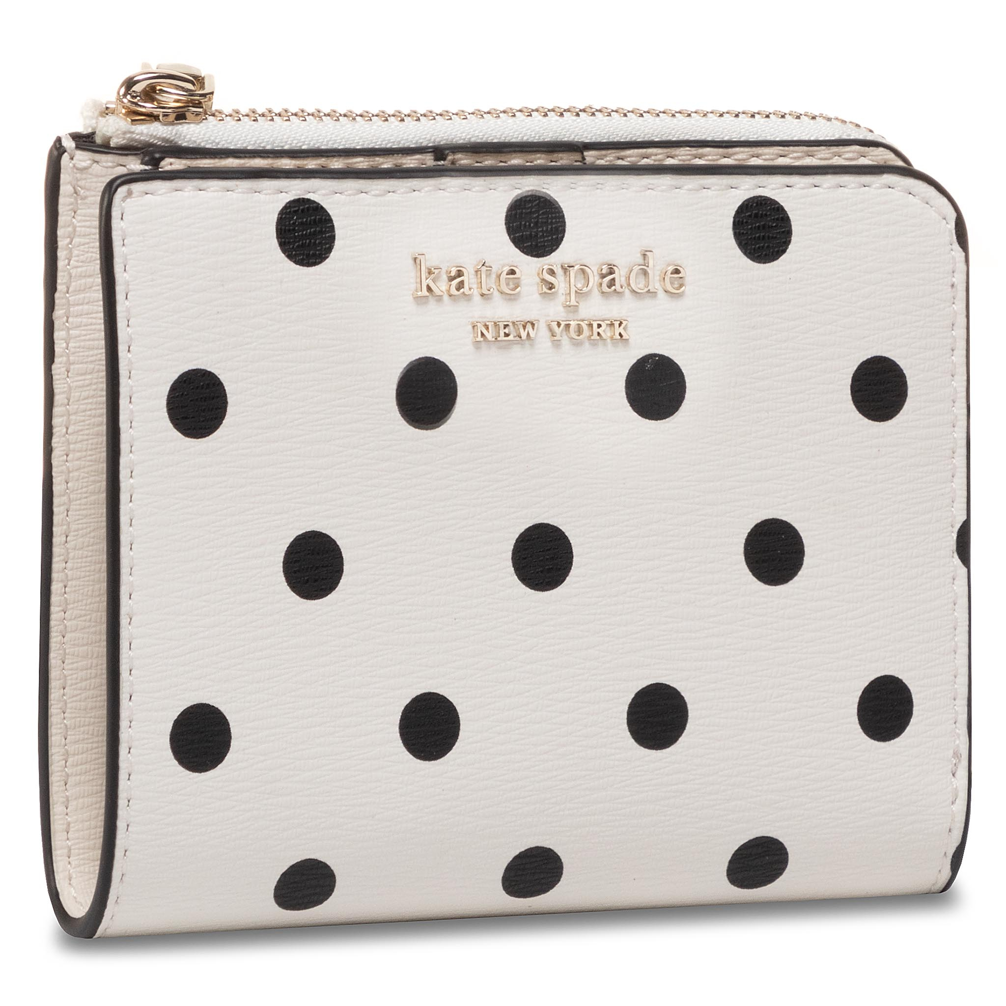 Portofel Mic de Damă KATE SPADE - Spencer Cabana Dot PWRU7930 Optic White Multi 141