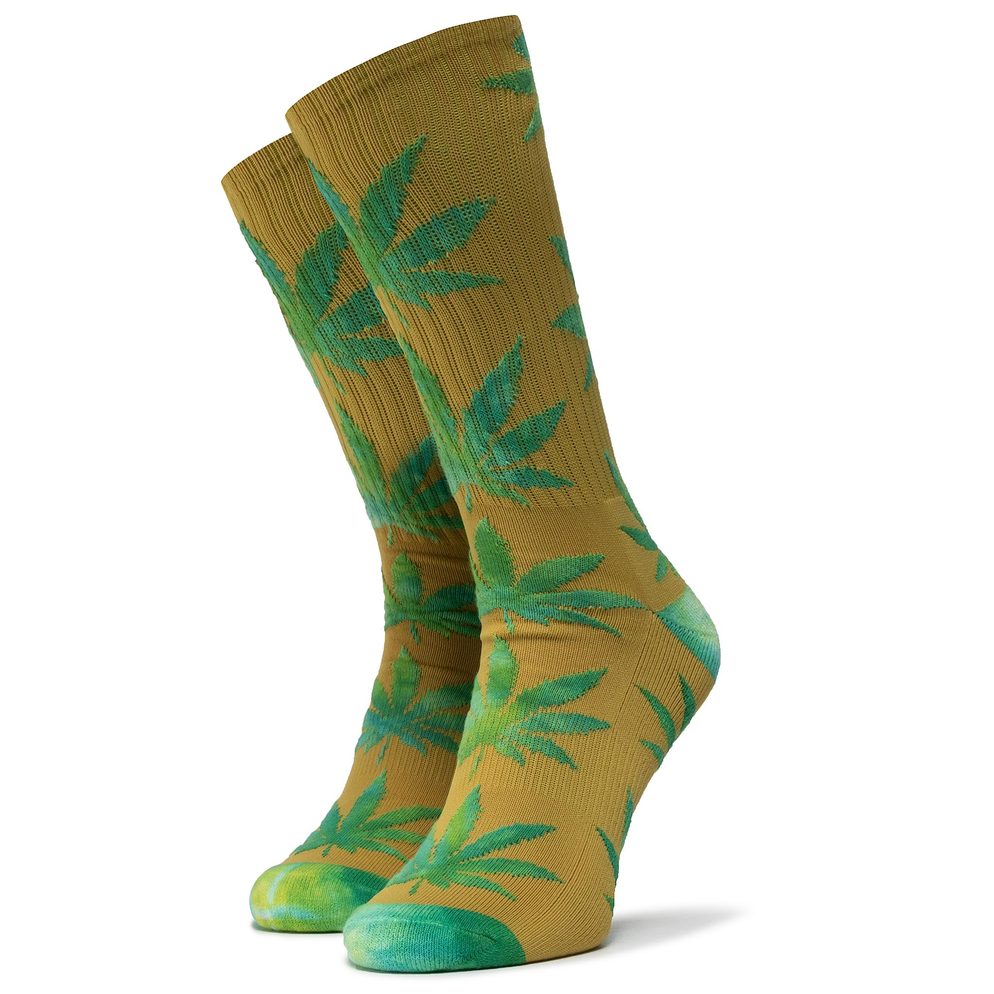 Șosete Înalte Unisex Huf - Plantlife Tiedye Leaves Sock Sk00433 R.Os Golden Spice imagine epantofi.ro 2021