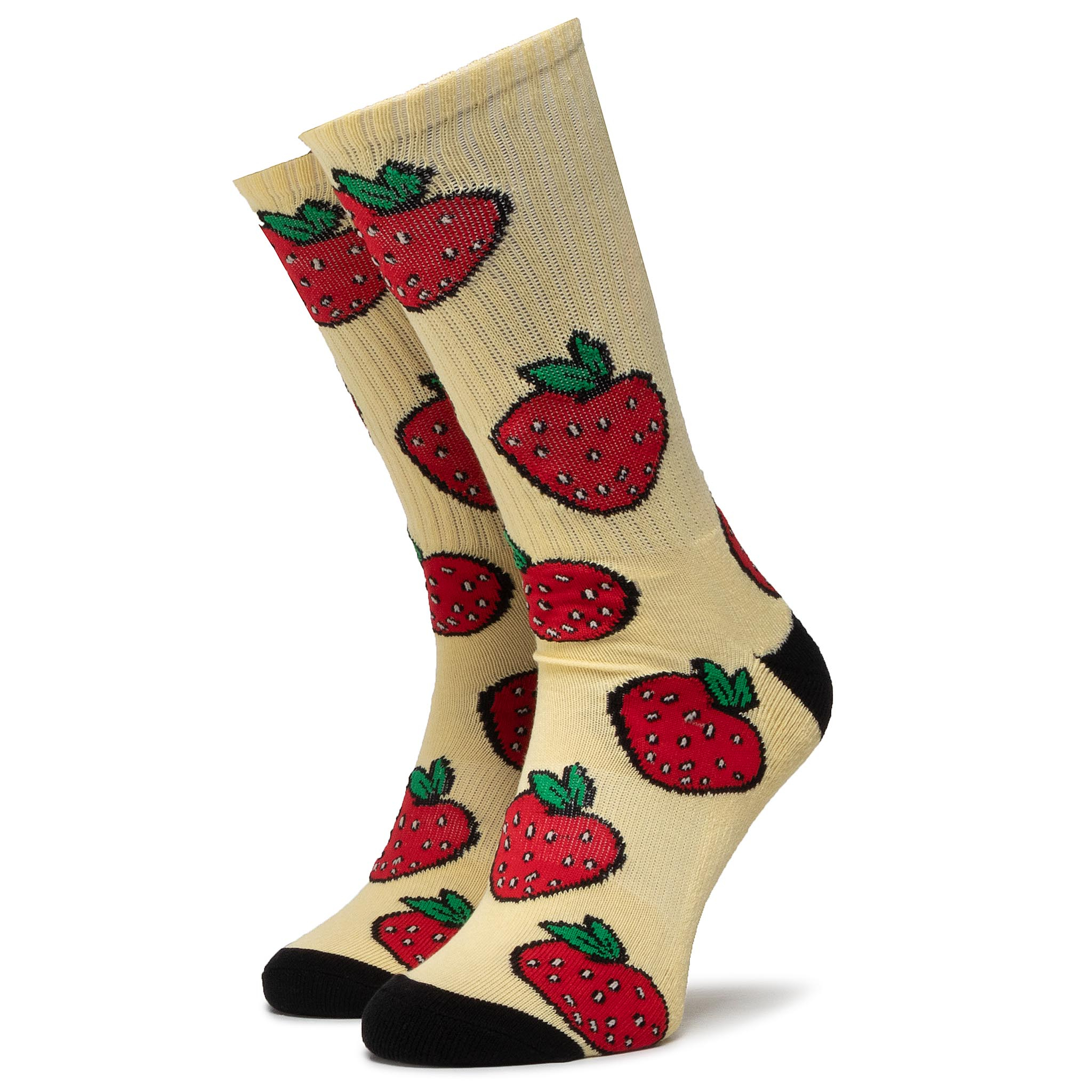 Șosete Înalte Unisex Huf - Strawberry Sock Sk0046 R.Os Pale Lemon imagine epantofi.ro 2021