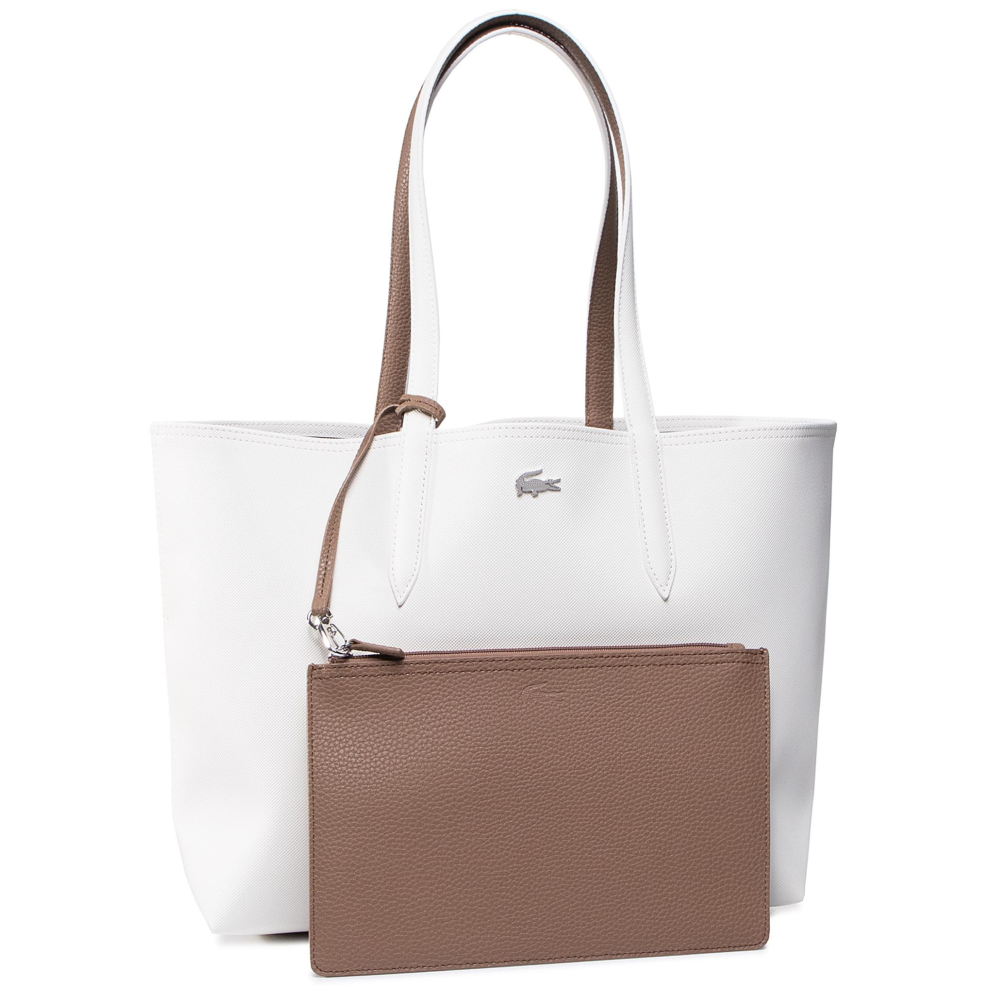 Geantă LACOSTE - Shopping Bag NF2142AA Marshmallow Otter E39