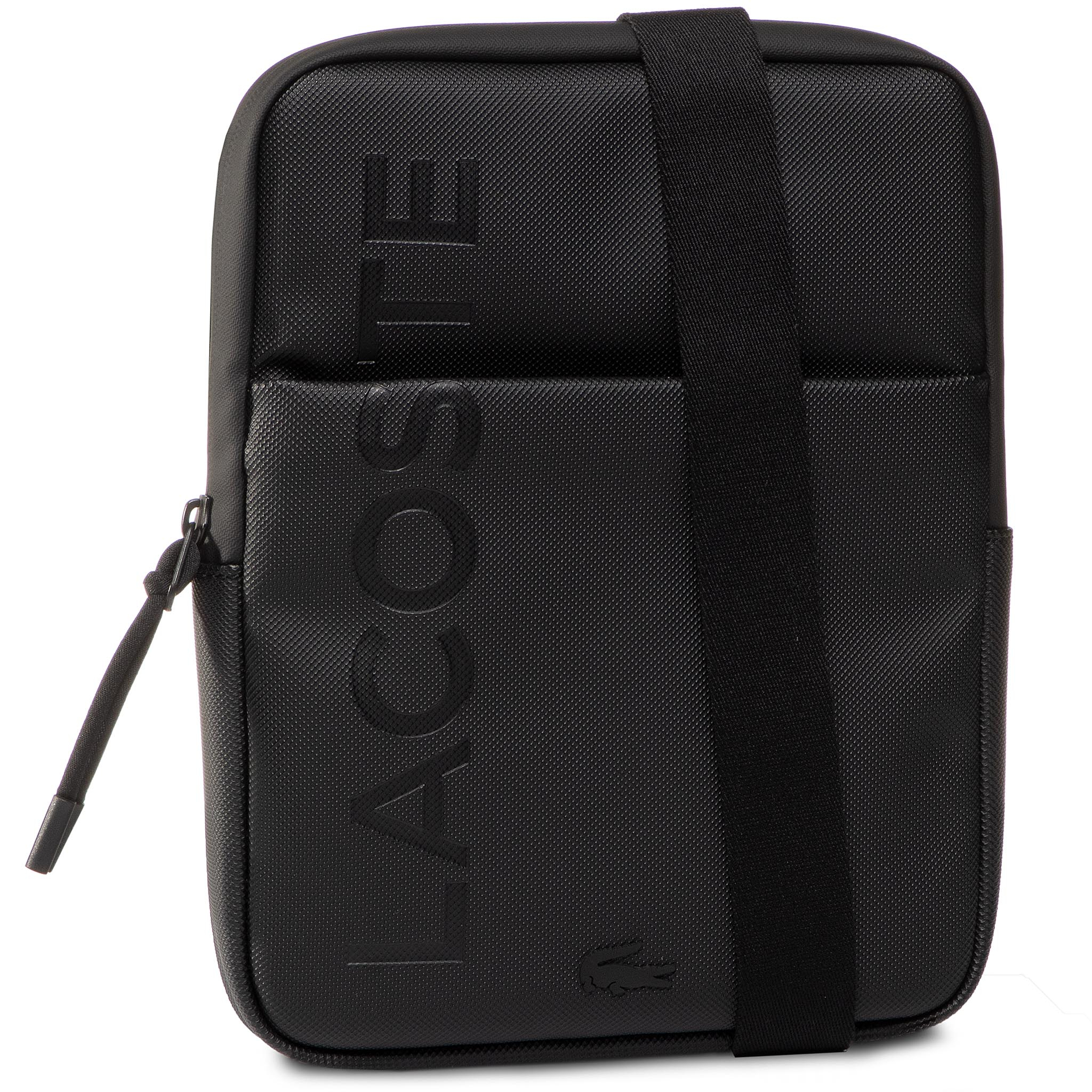 Geantă crossover LACOSTE - M Flat Crossover Bag NH3135PO Black 000