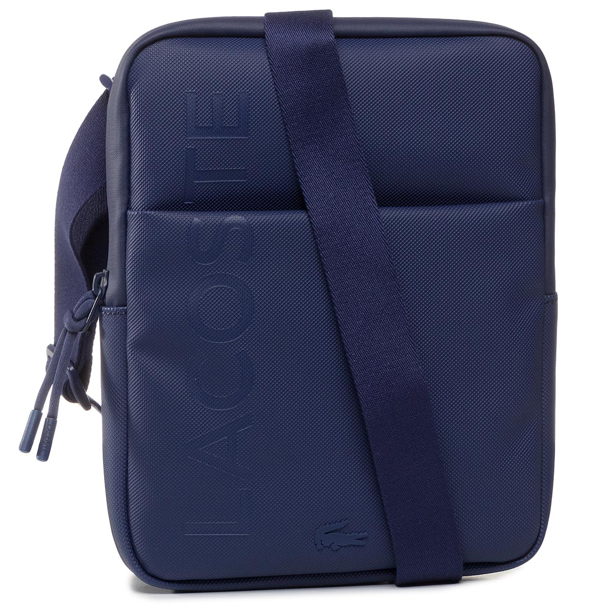Geantă crossover LACOSTE - M Flat Crossover Bag NH3135PO Blue Depths D55