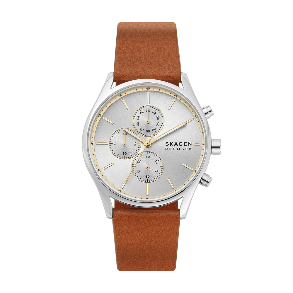 Ceas SKAGEN - Holst Chronograph SKW6607 Brown/Silver