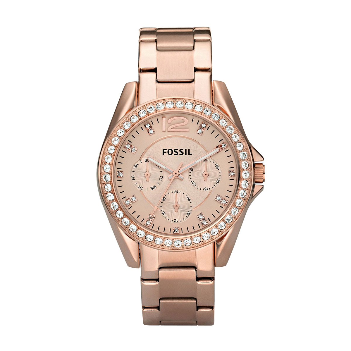 Ceas FOSSIL - Riley ES2811 Rose Gold/Rose
