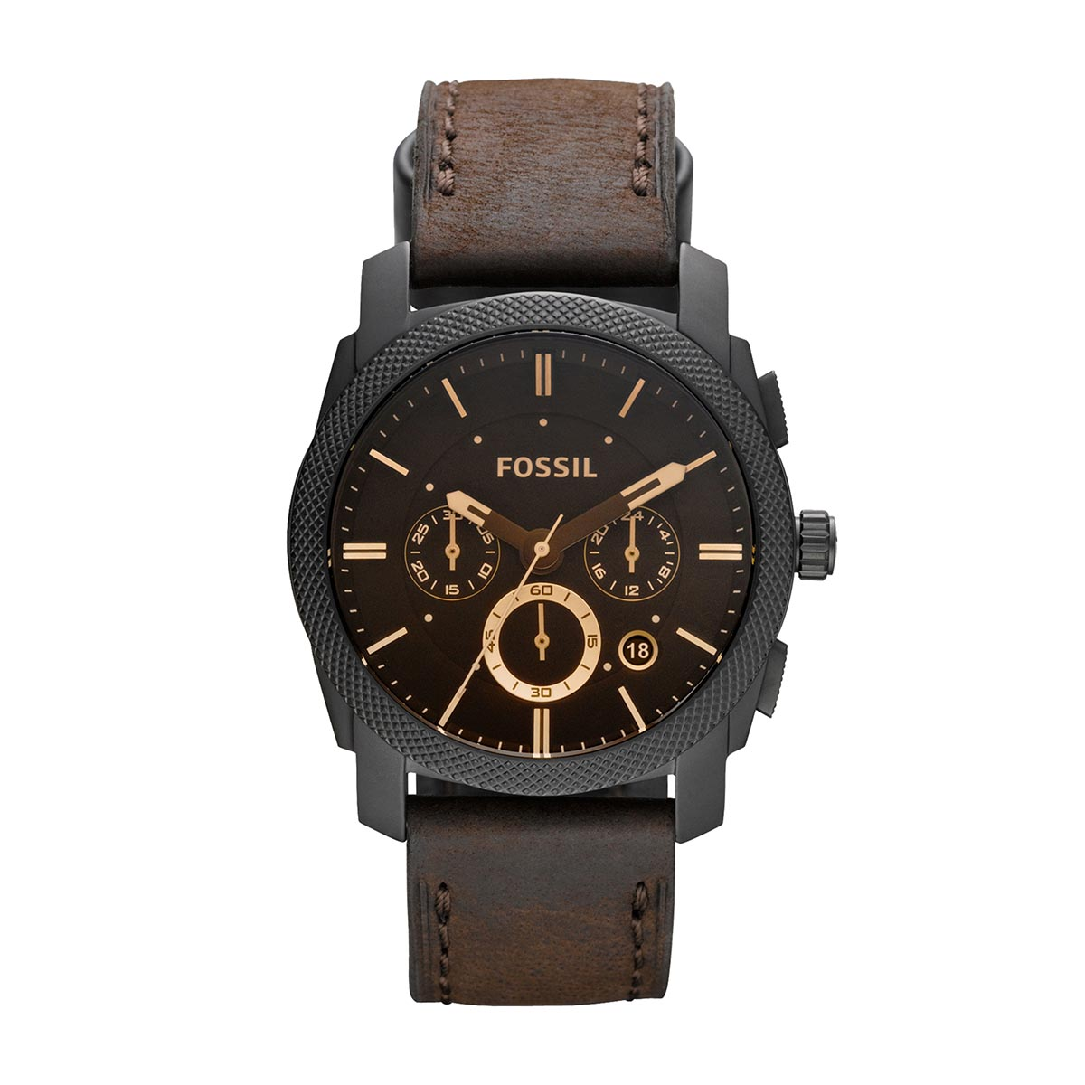 Ceas FOSSIL - Machine FS4656 Dark Brown/Black