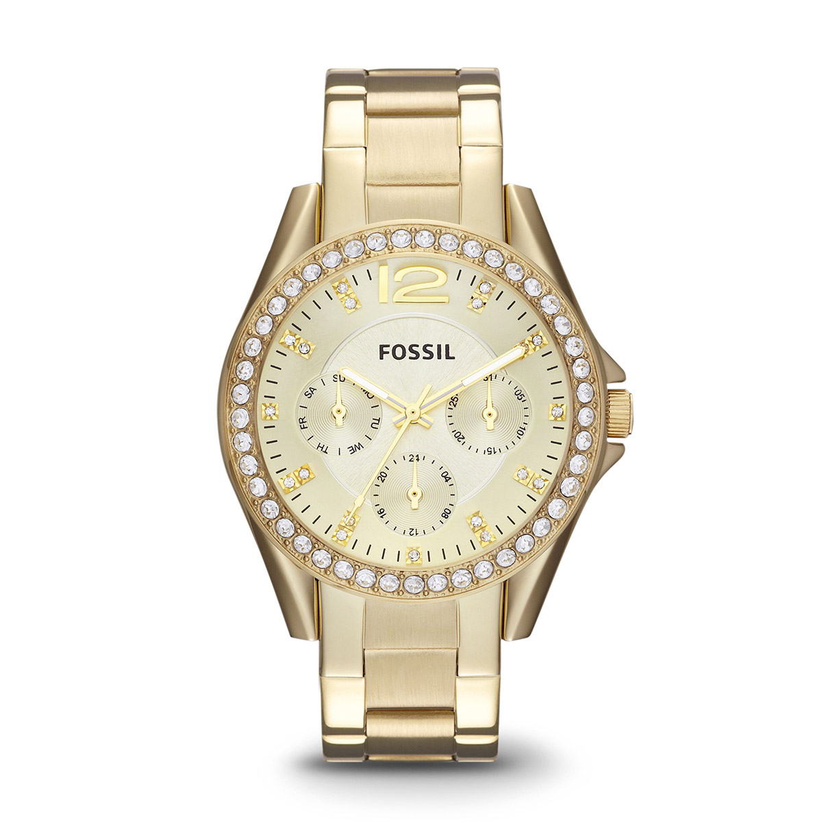Ceas FOSSIL - Riley ES3203 Gold/Gold