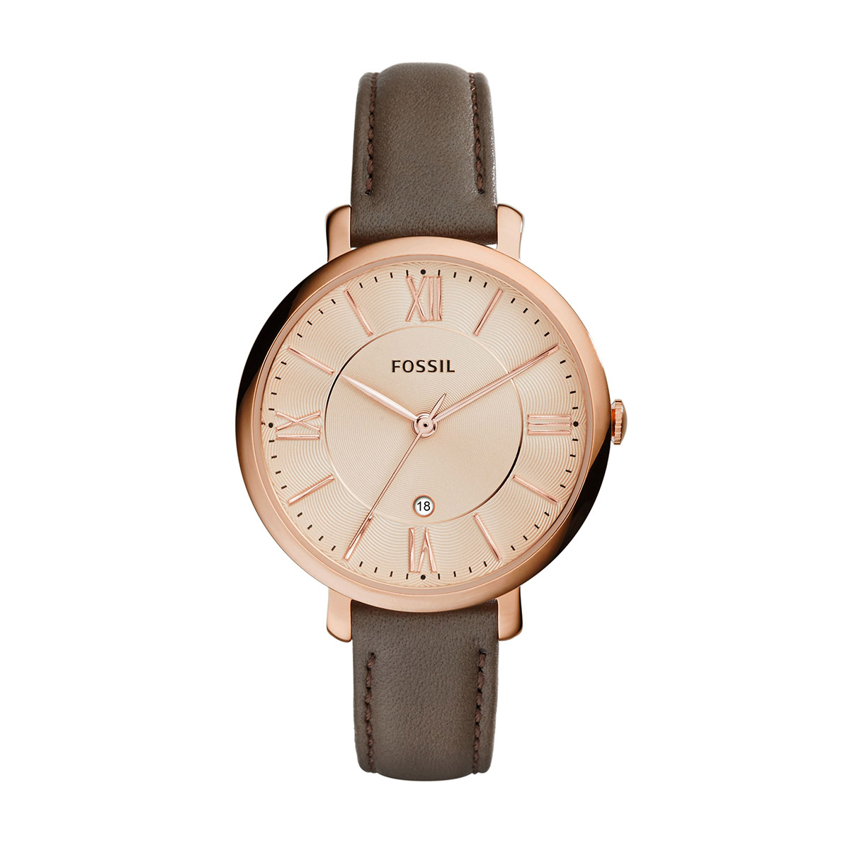 Ceas FOSSIL - Jacqueline ES3707 Gray/Rose Gold