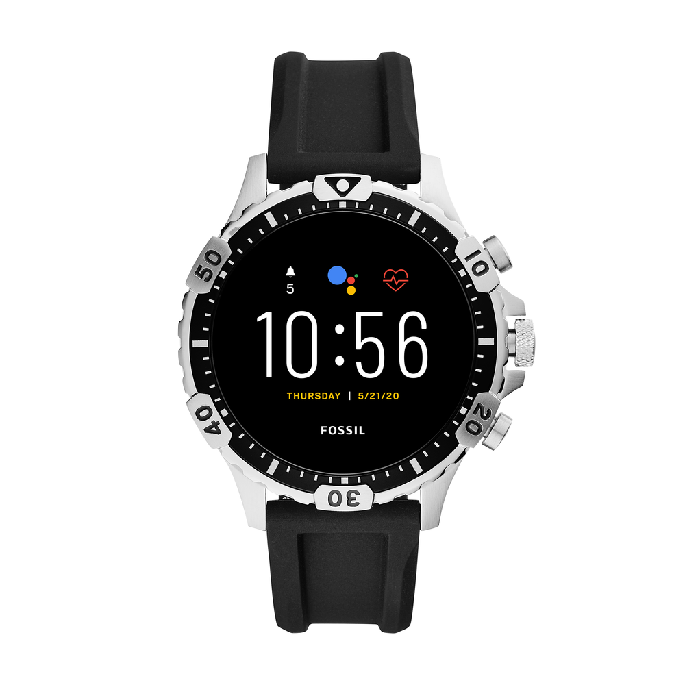 Smartwatch Fossil - Garrett Ftw4041 Black/Silver imagine