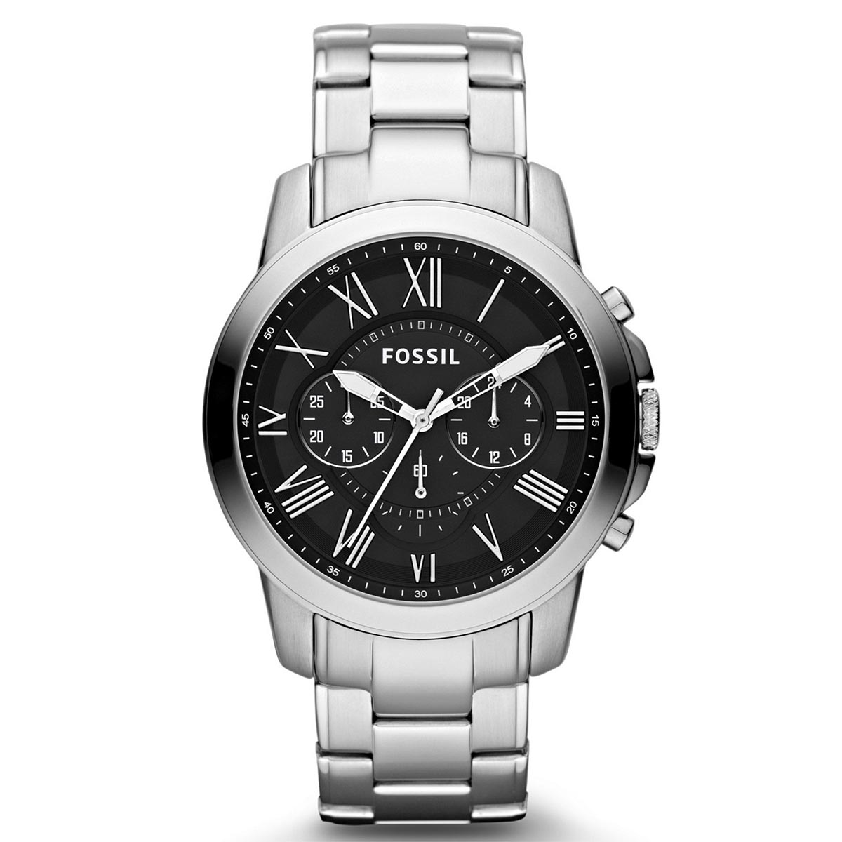Ceas FOSSIL - Grant FS4736IE Silver/Steel