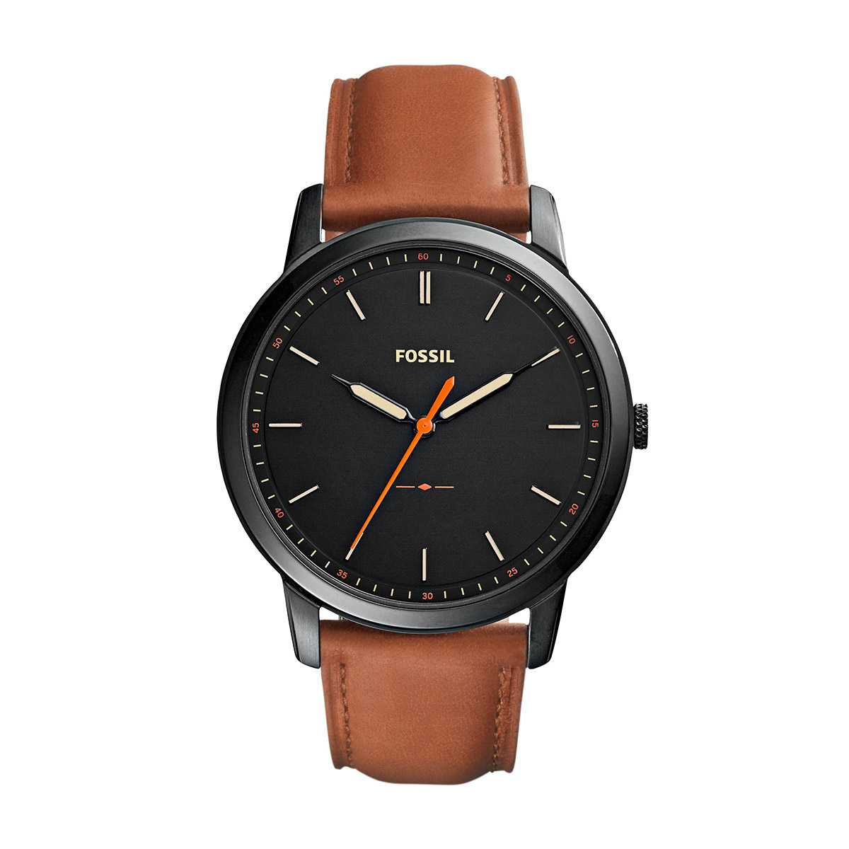 Ceas FOSSIL - The Minimalist 3H FS5305 Brown/Black
