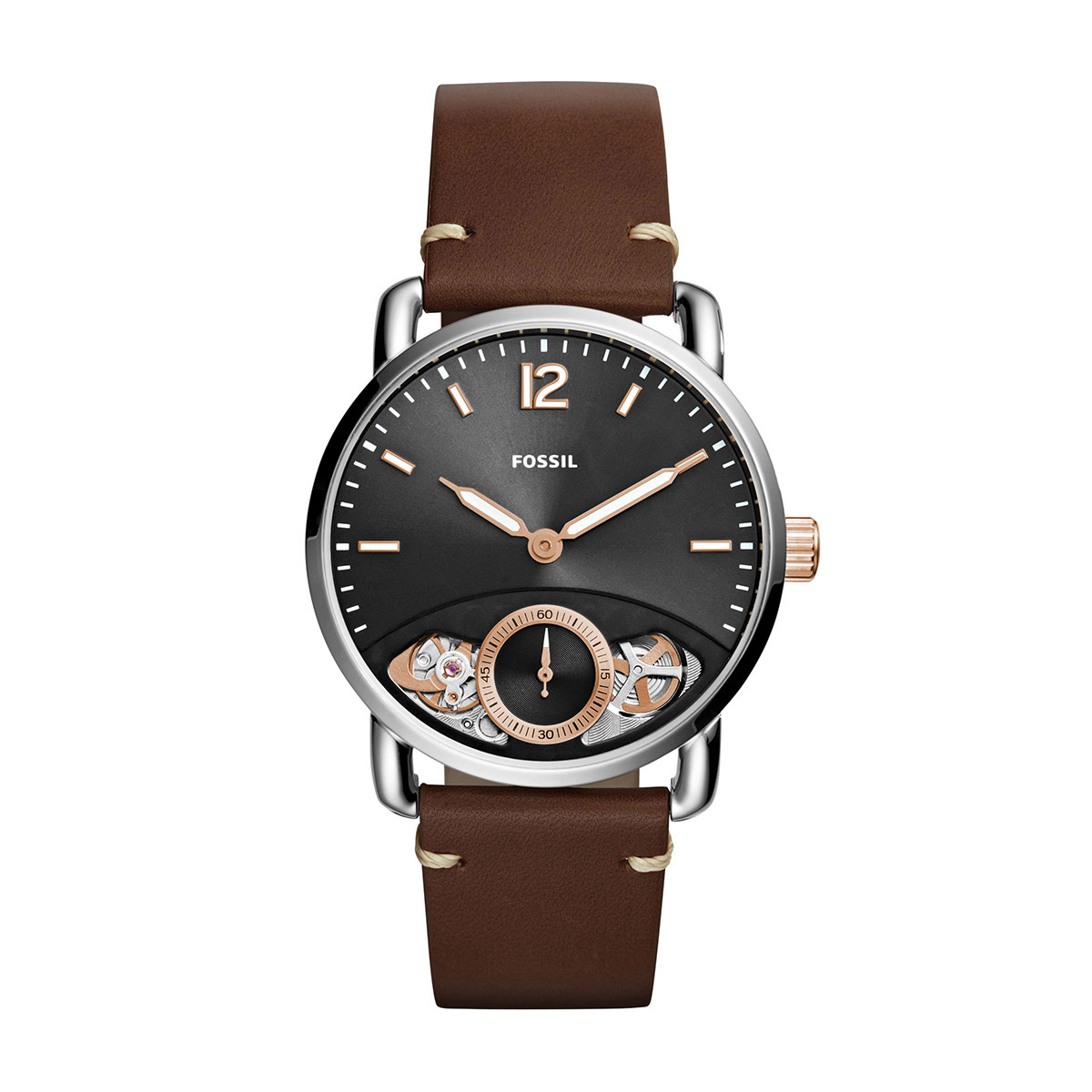 Ceas FOSSIL - The Commuter Twist ME1165 Brown/Silver