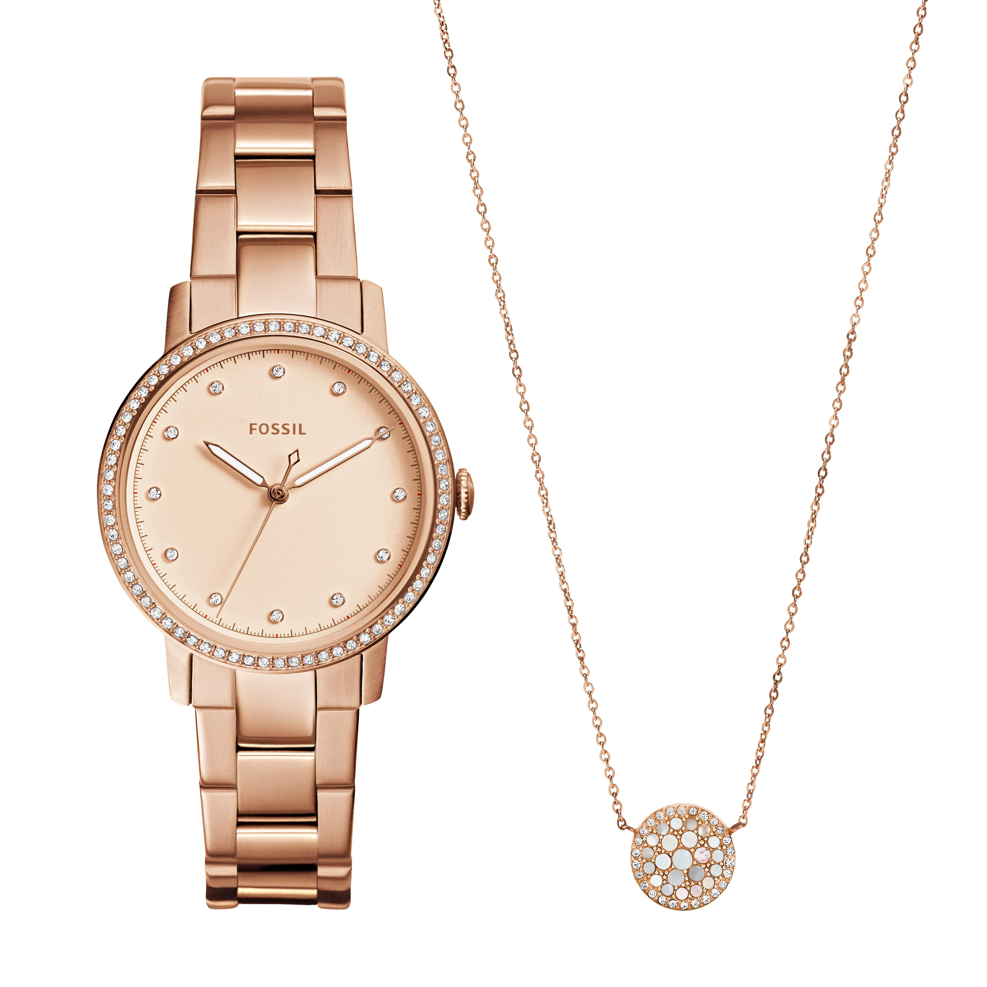 Ceas FOSSIL - Neely ES4330SET Rose Gold/Rose Gold
