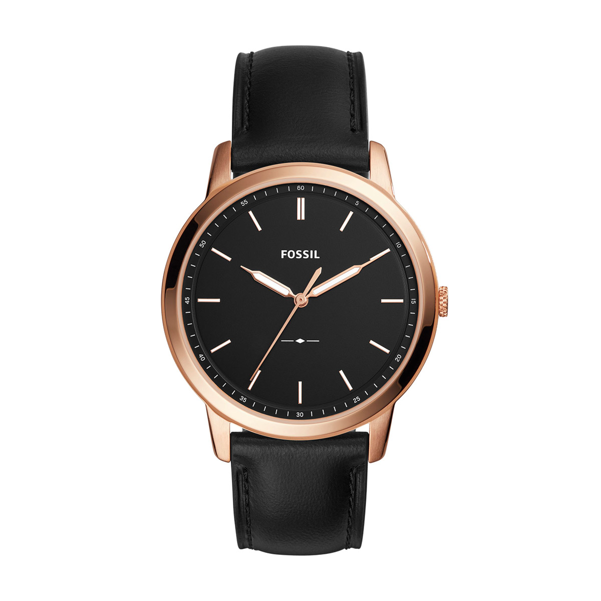 Ceas FOSSIL - The Minimalist FS5376 Black/Rose Gold