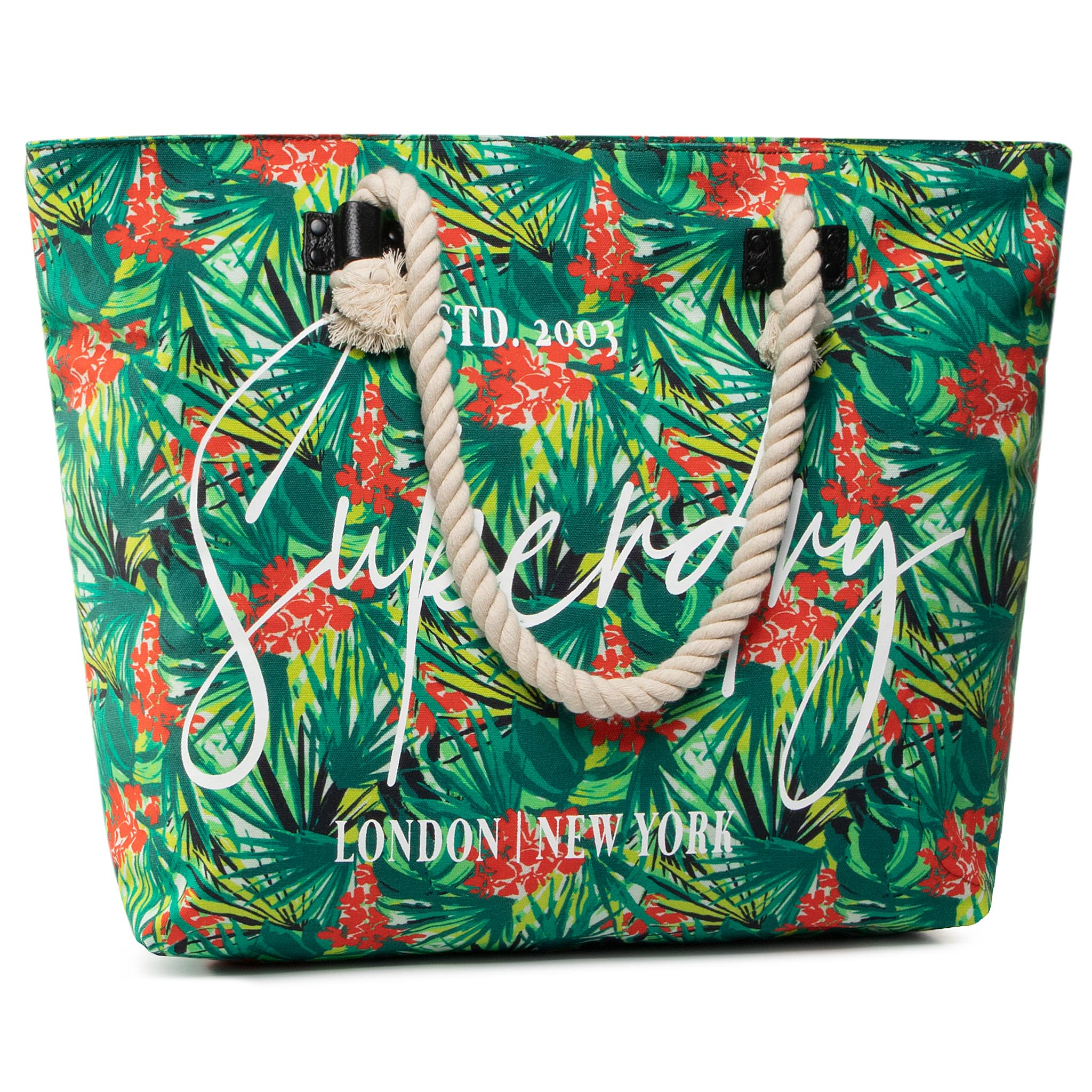 Geantă SUPERDRY - W9110022A Green Tropical 0UW