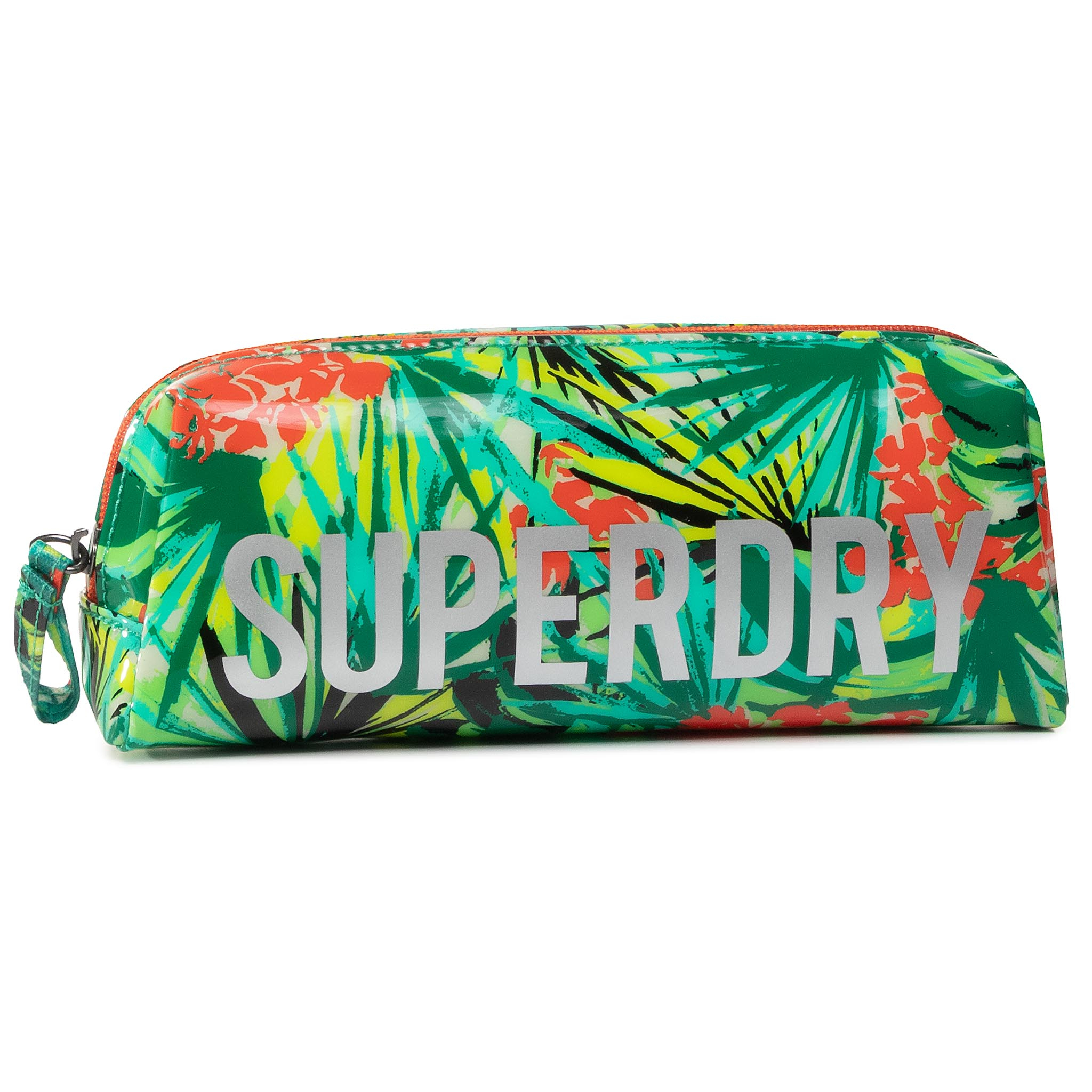Penar Superdry - Jelly Pencil Case W9810025a Green Tropical imagine