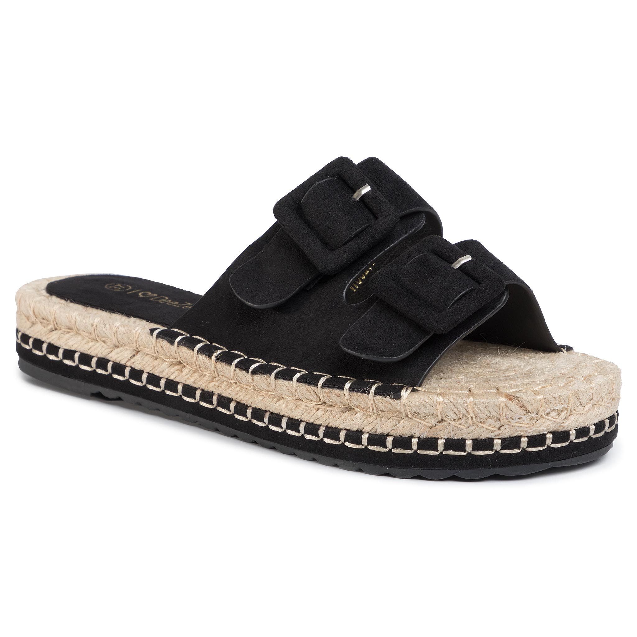 Espadrile Deezee - Wss20301-01 Black imagine epantofi.ro 2021