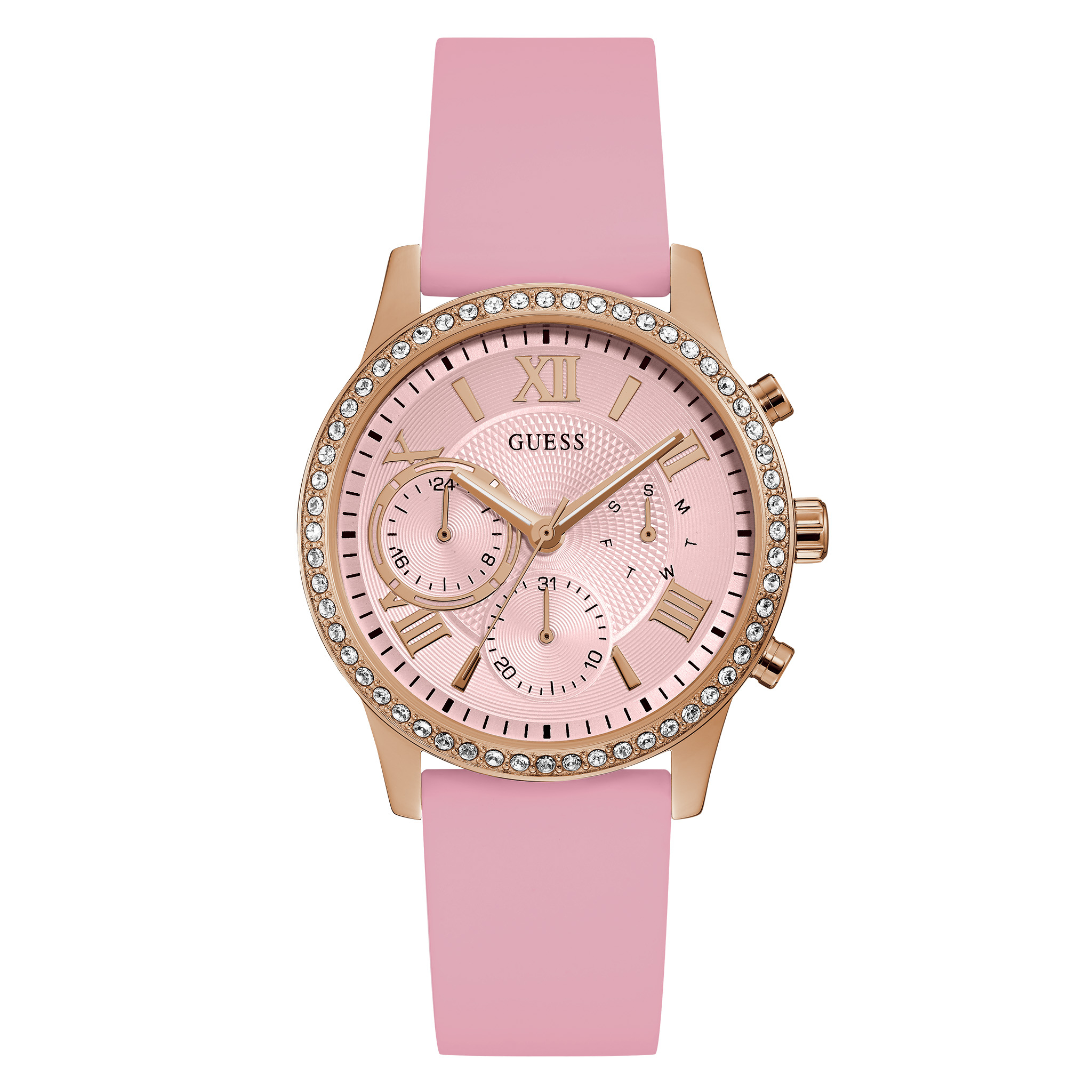 Ceas GUESS - Solar W1135L2 PINK/GOLD