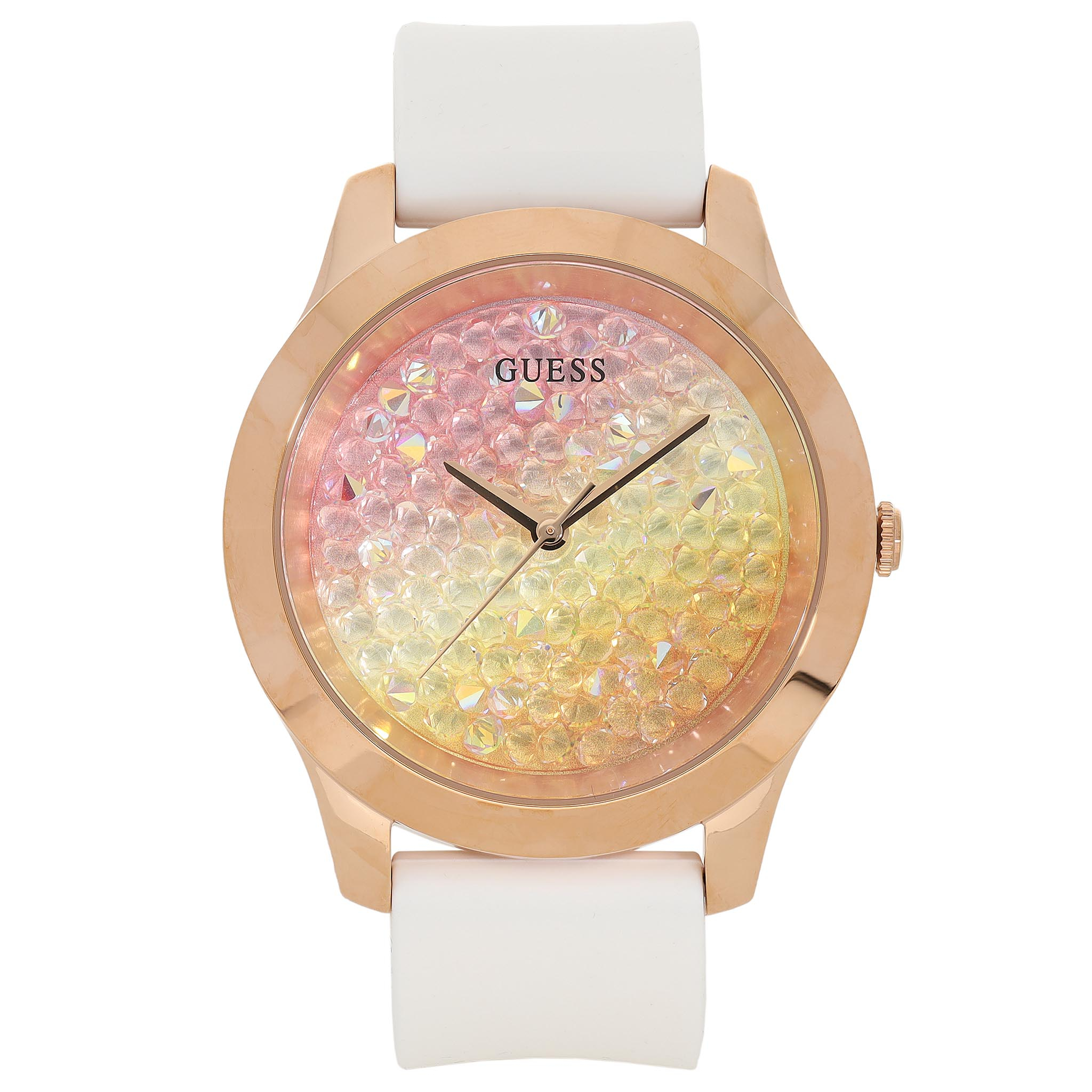 Ceas GUESS - Crush W1223L3 WHITE/GOLD