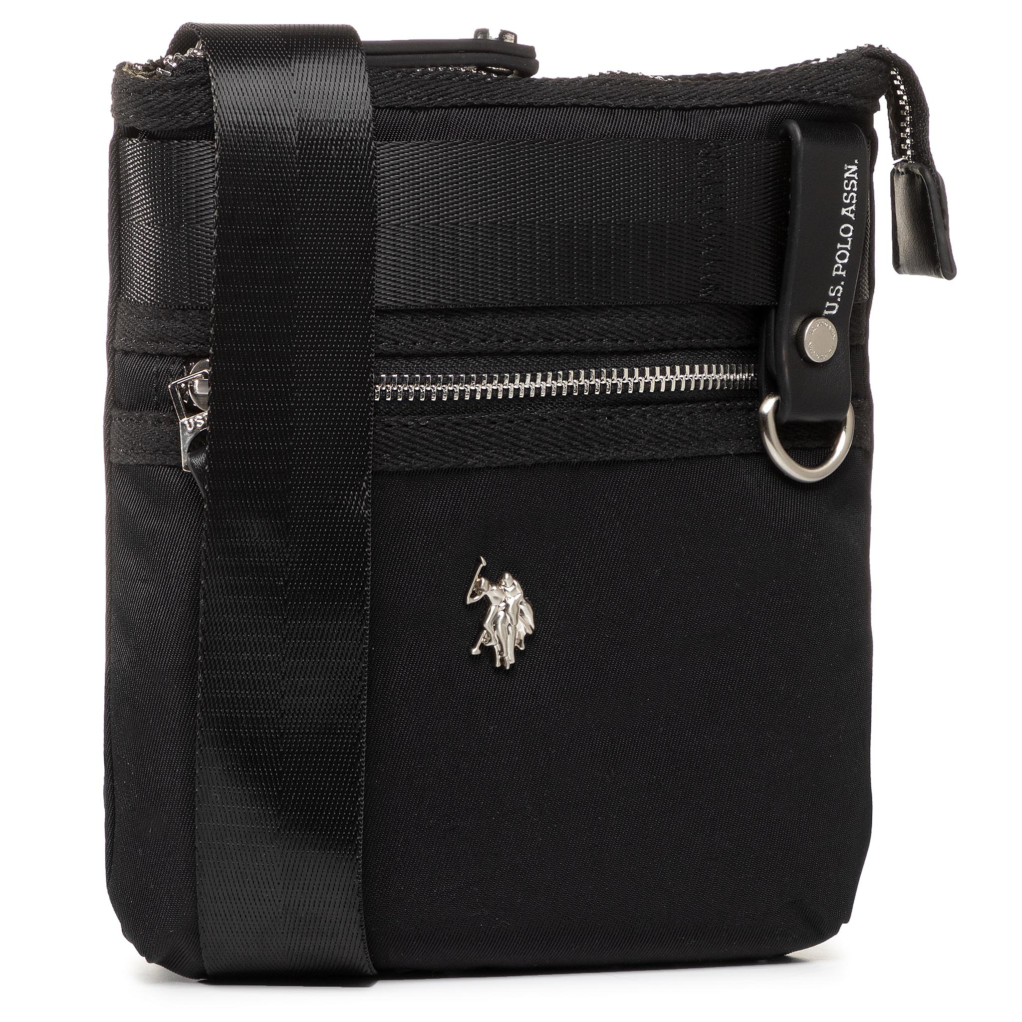 Geantă crossover U.S. POLO ASSN. - New Waganer S Flat Crossb BEUWG2839MIP/000 Black