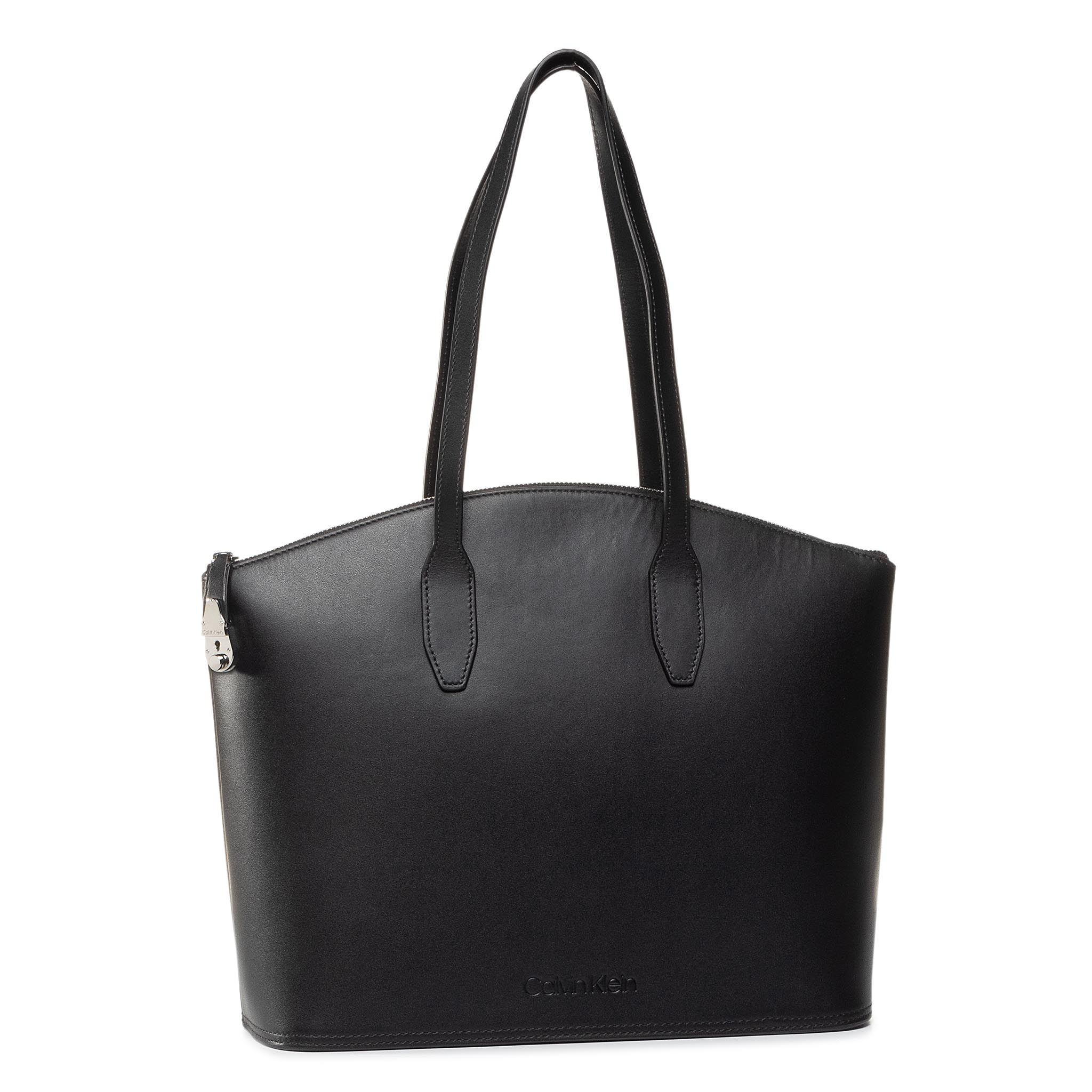 Geantă CALVIN KLEIN - Lock Domed Shopper K60K606354 BAX