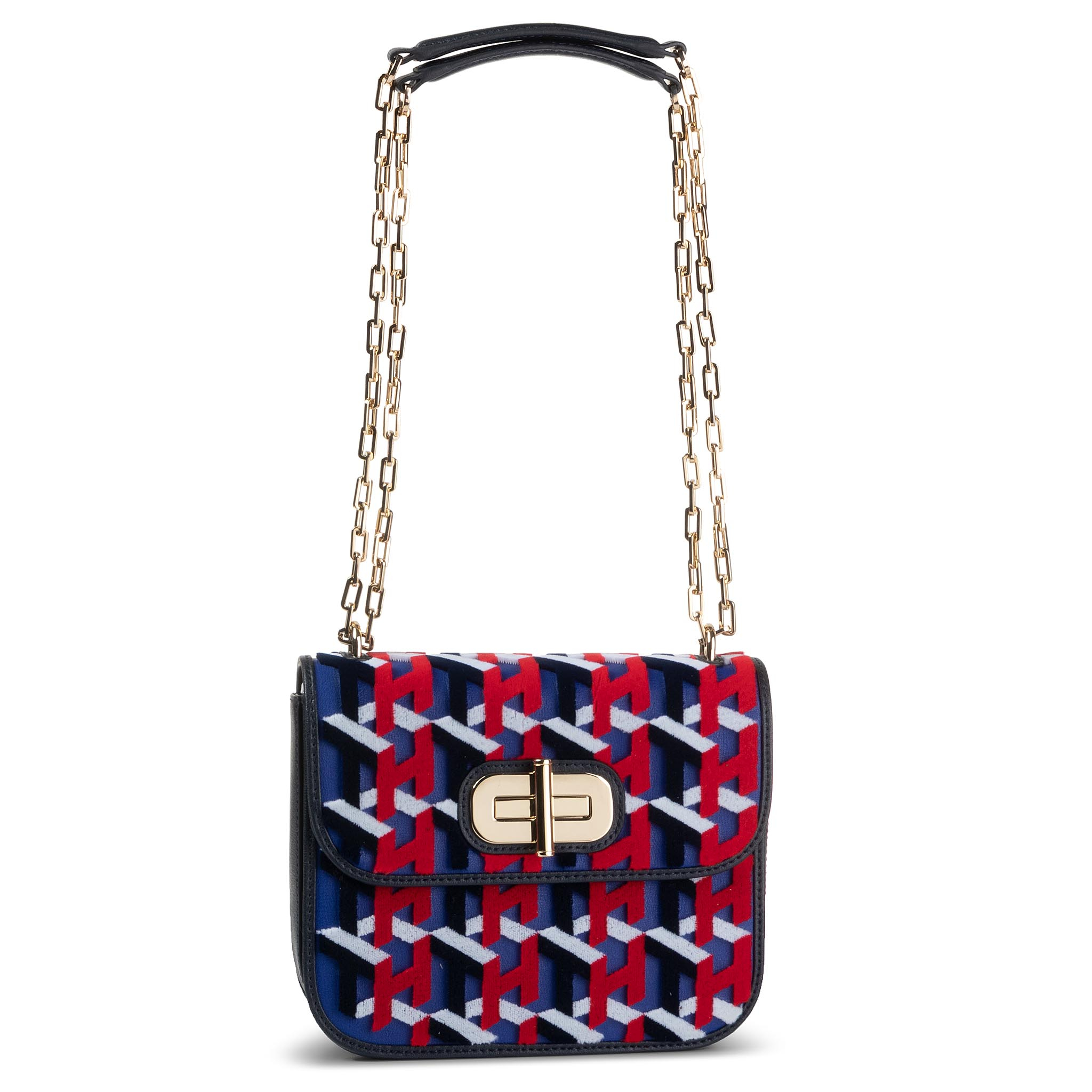 Geantă TOMMY HILFIGER - Turnlock Crossover Velvet AW0AW07421 0IG New