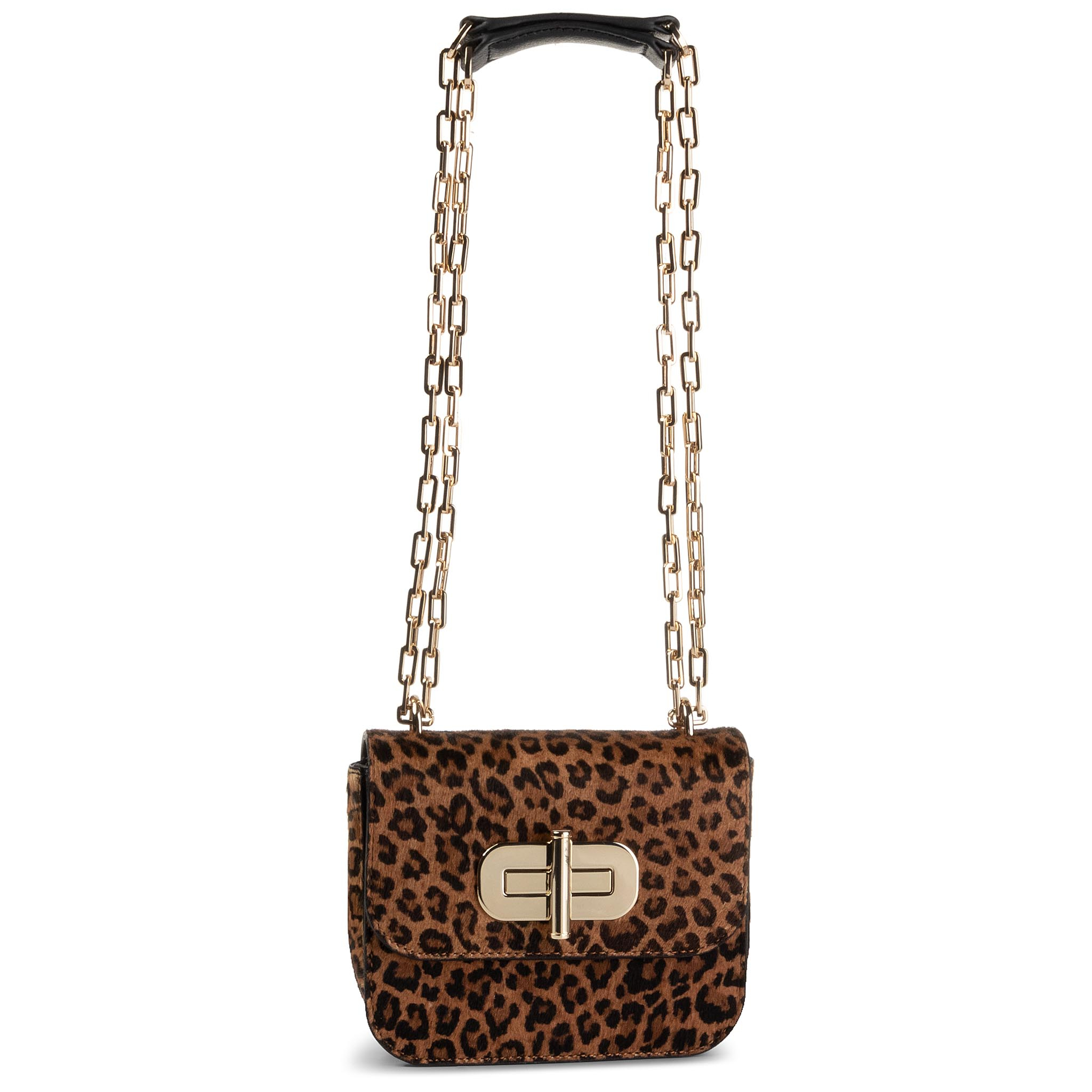 Geantă TOMMY HILFIGER - Turnlock Mini Crossover Cheeta AW0AW07418 TDQ
