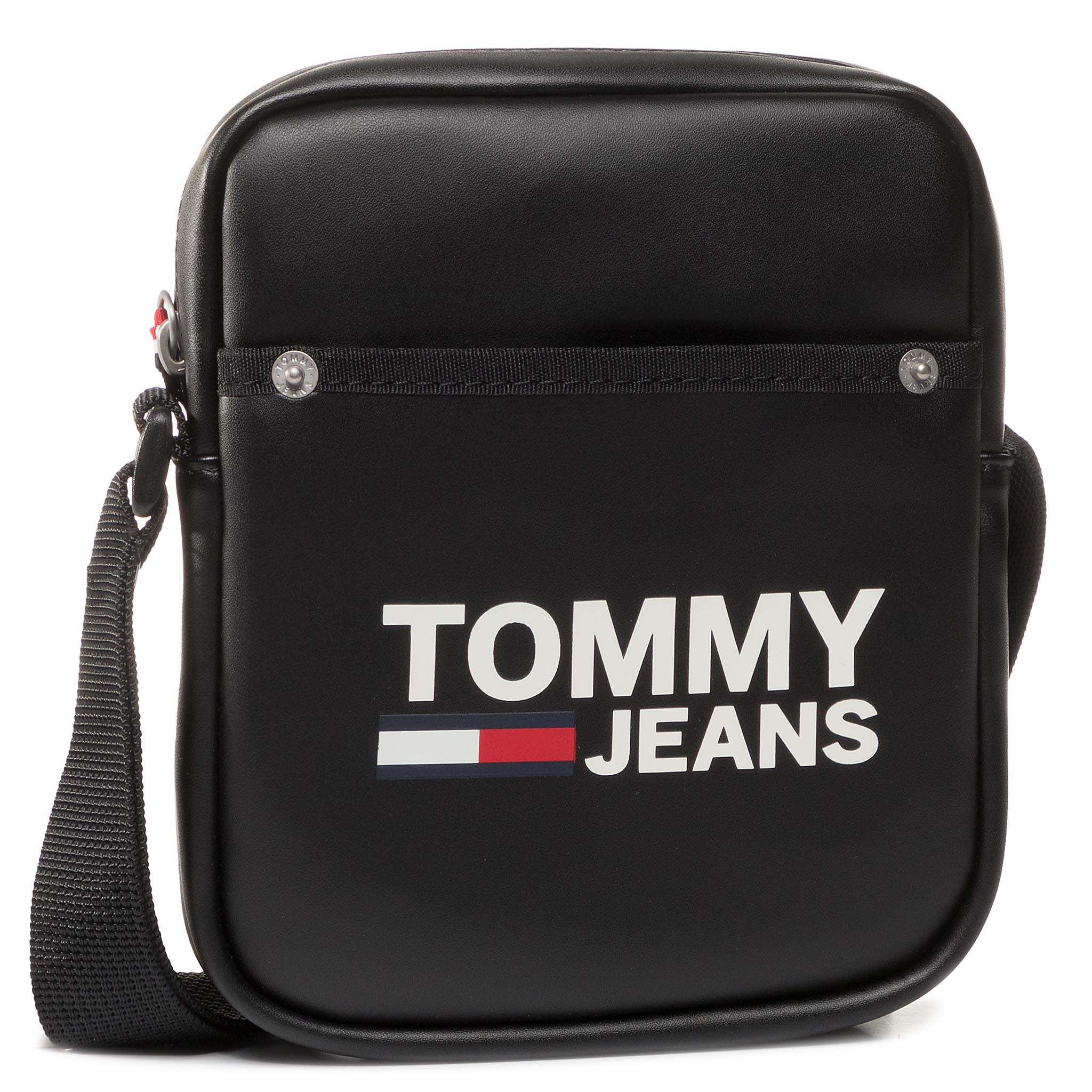 Geantă crossover TOMMY JEANS - Tjm Cool City Mini Reporter Pu AM0AM05527 BDS