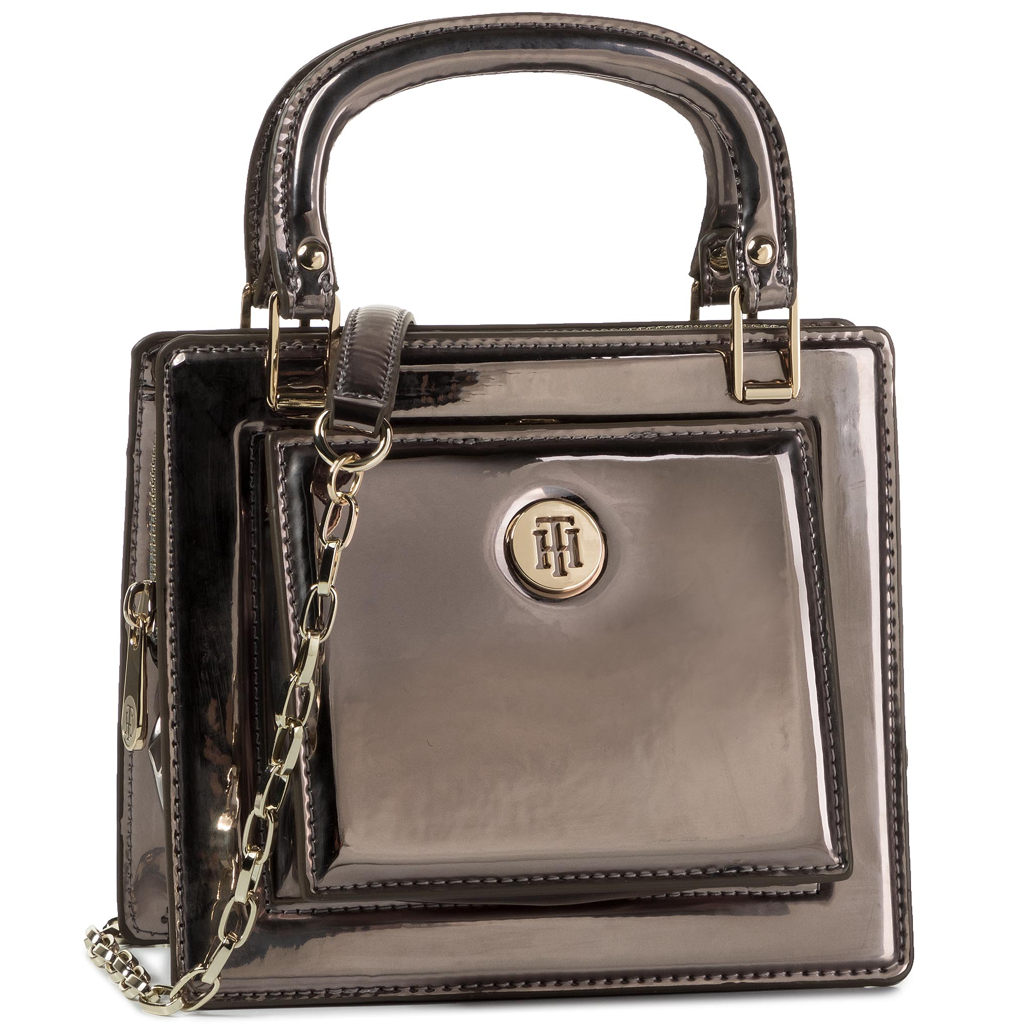 Geantă TOMMY HILFIGER - Fashion Crossover Metallic AW0AW08219 BLK