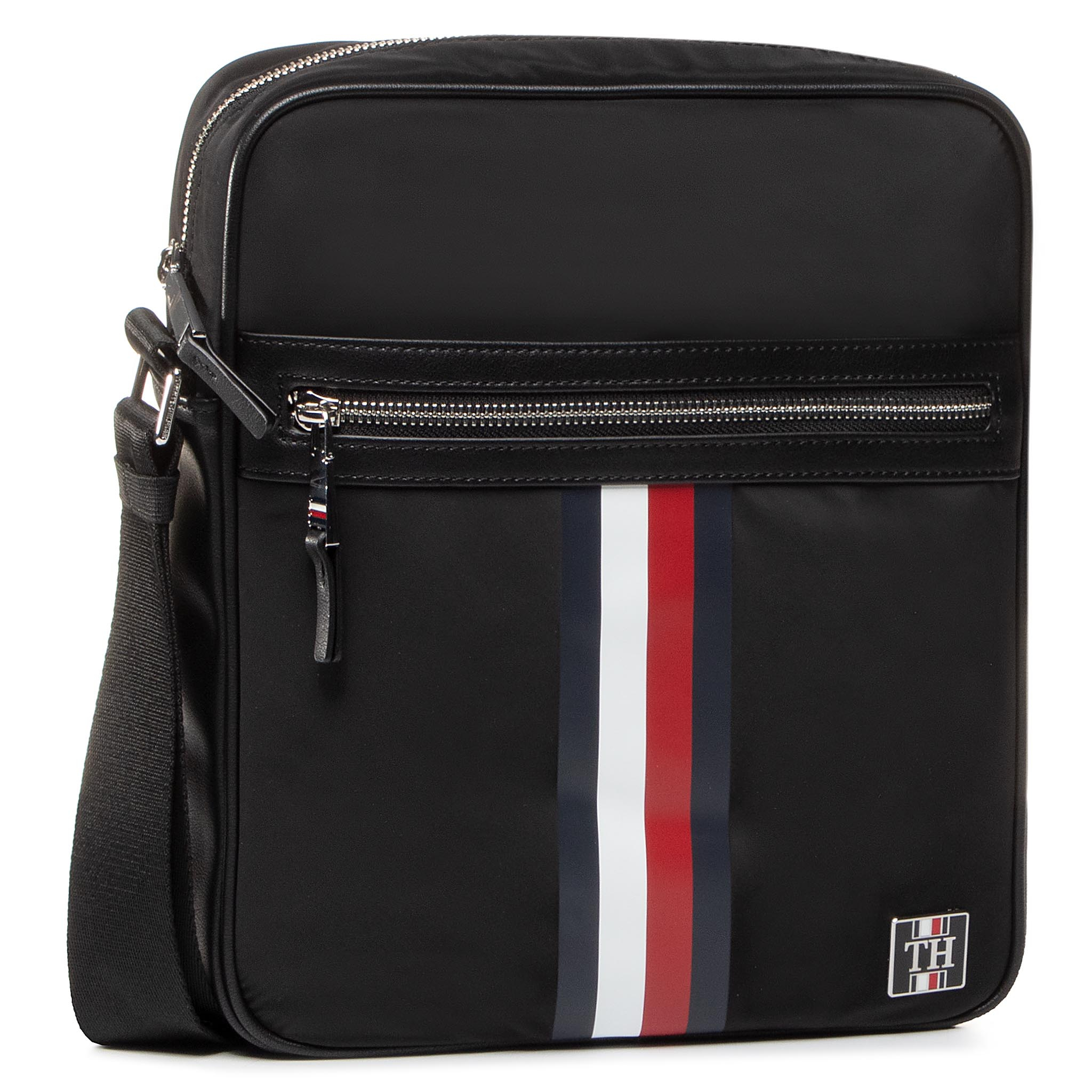 Geantă crossover TOMMY HILFIGER - Clean Nylon Reporter AM0AM05819 BDS