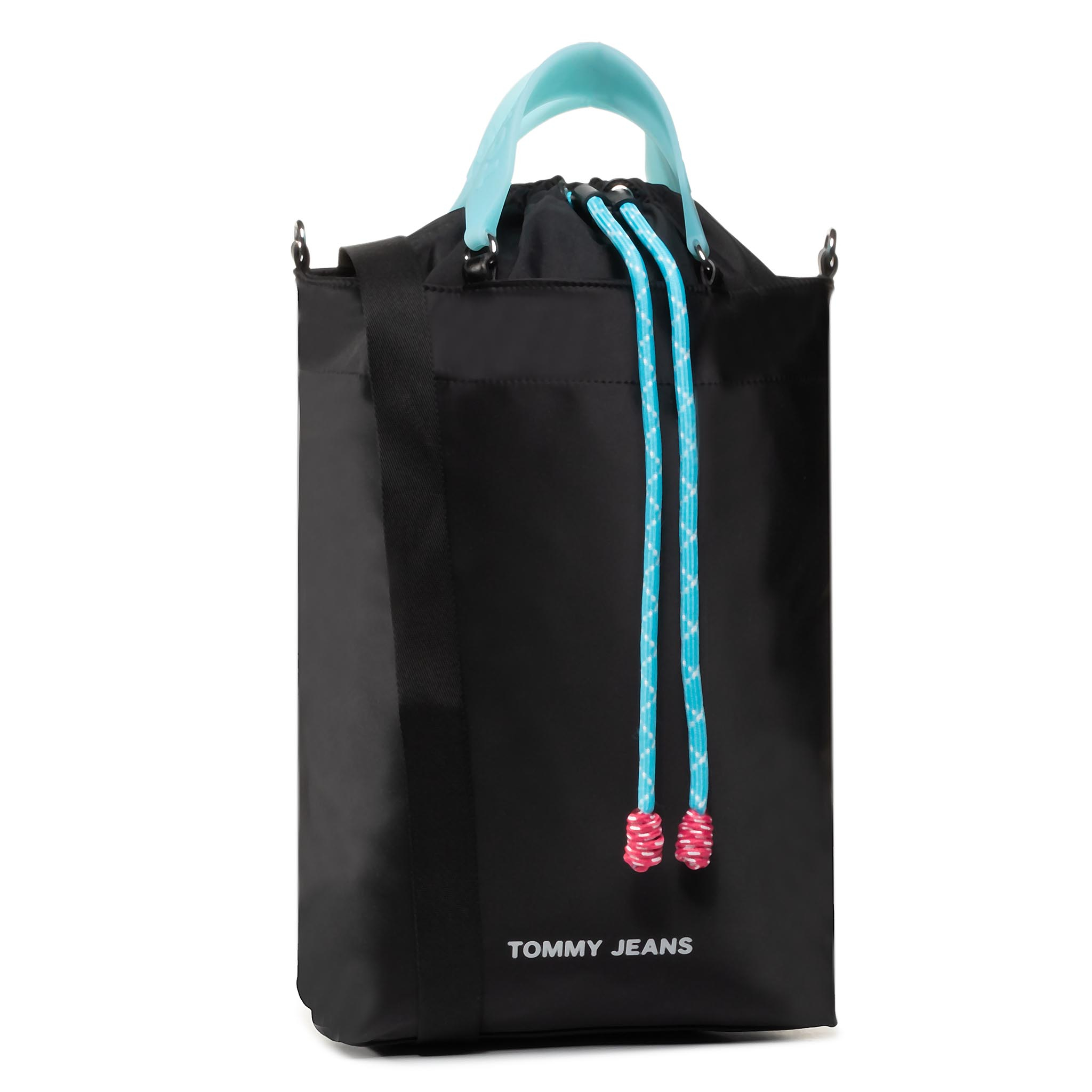 Geantă TOMMY JEANS - Tjw Nautical Mix N/S Tote Nyl AW0AW08054 0F4
