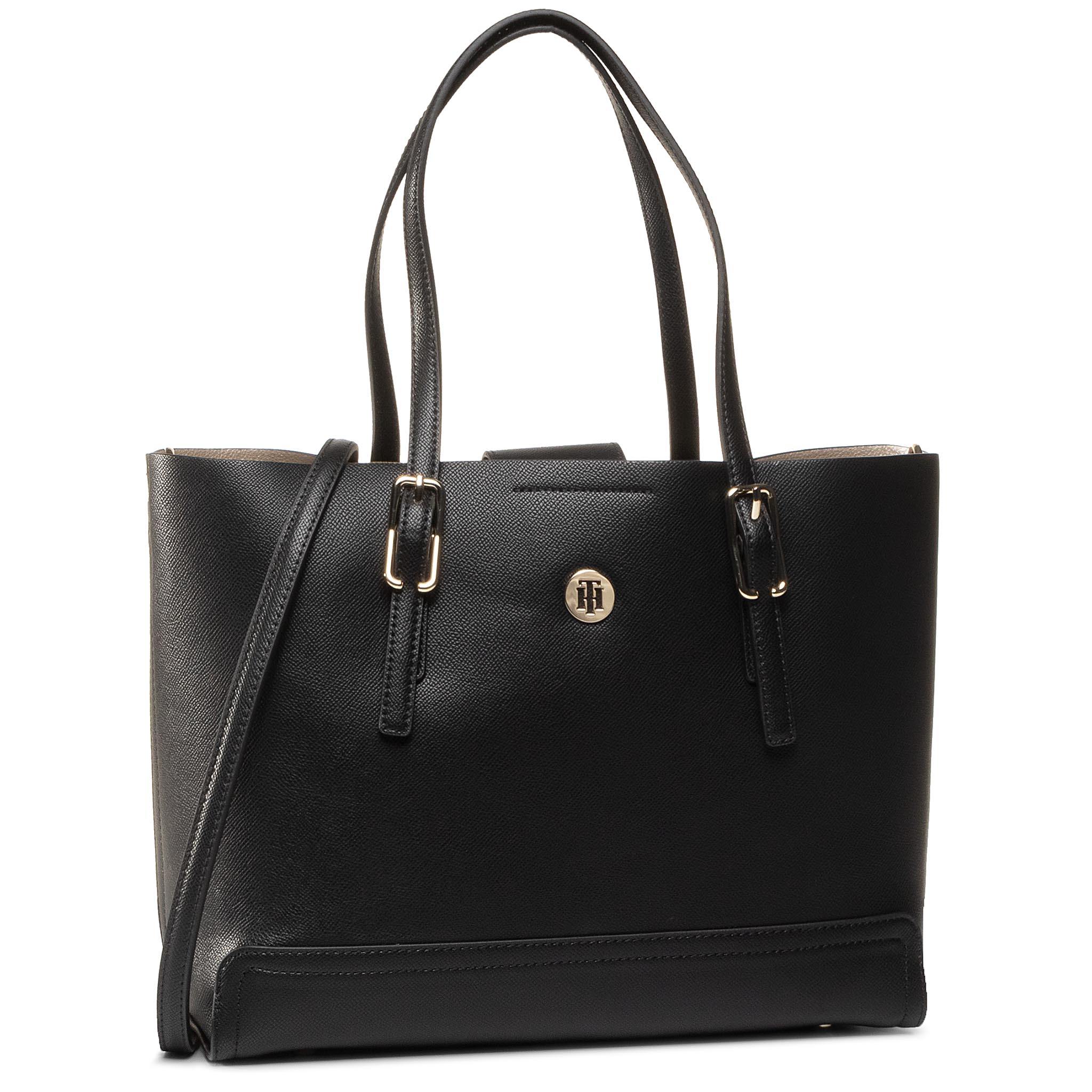 Geantă TOMMY HILFIGER - Honey Med Tote AW0AW07933 BDS